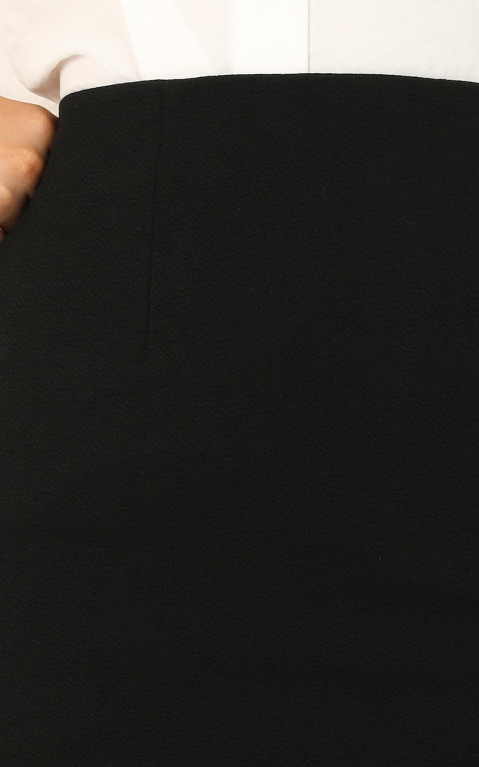 Smooth Talker Skirt In Black - 4 (XXS), Black, hi-res image number null