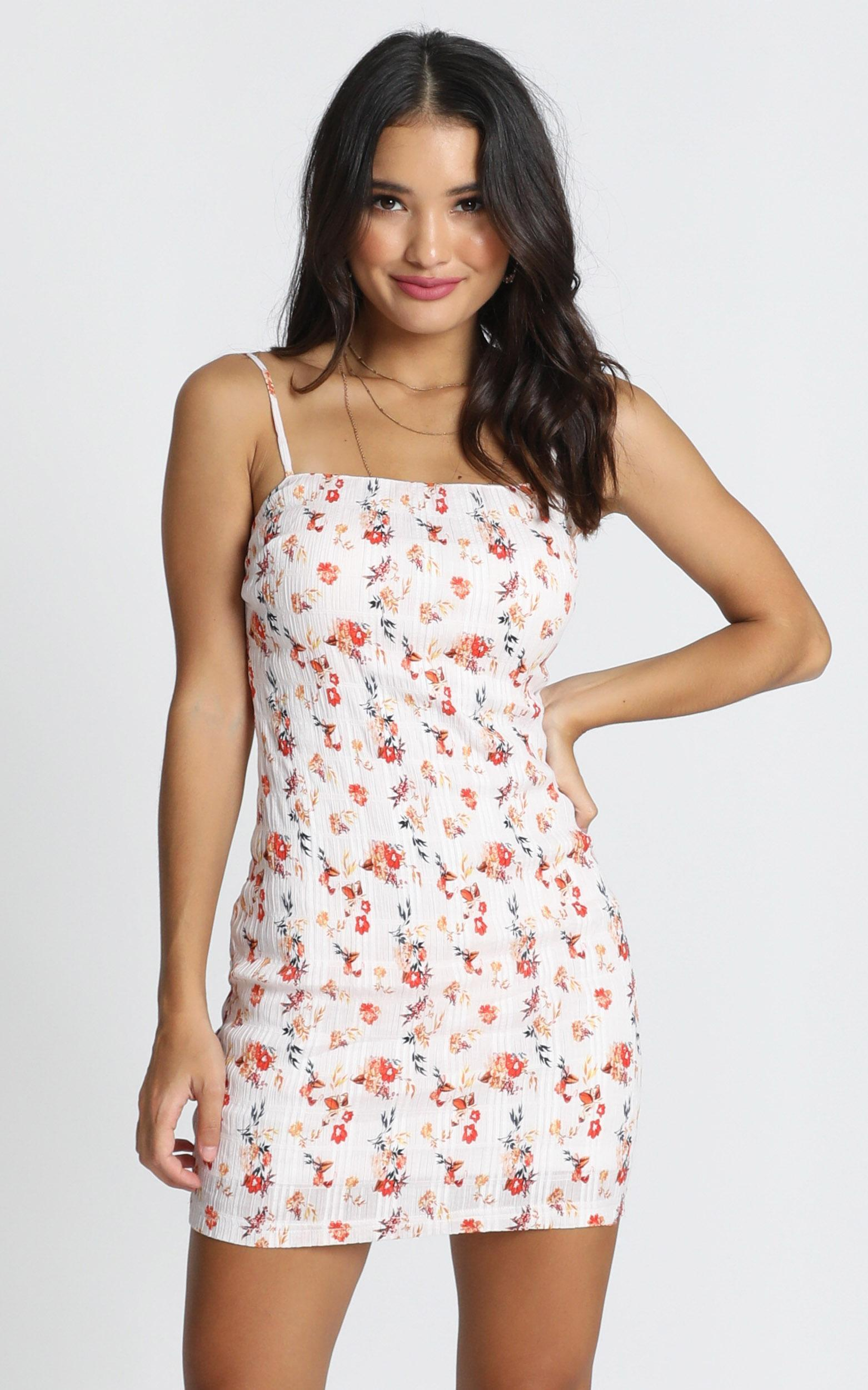 Mingling Away Dress in white floral - 12 (L), White, hi-res image number null