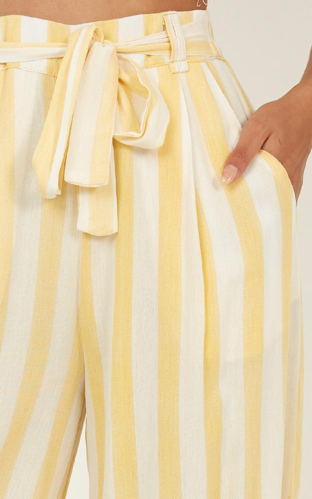 Natural Allure Pants in yellow stripe - 20 (XXXXL), Yellow, hi-res image number null
