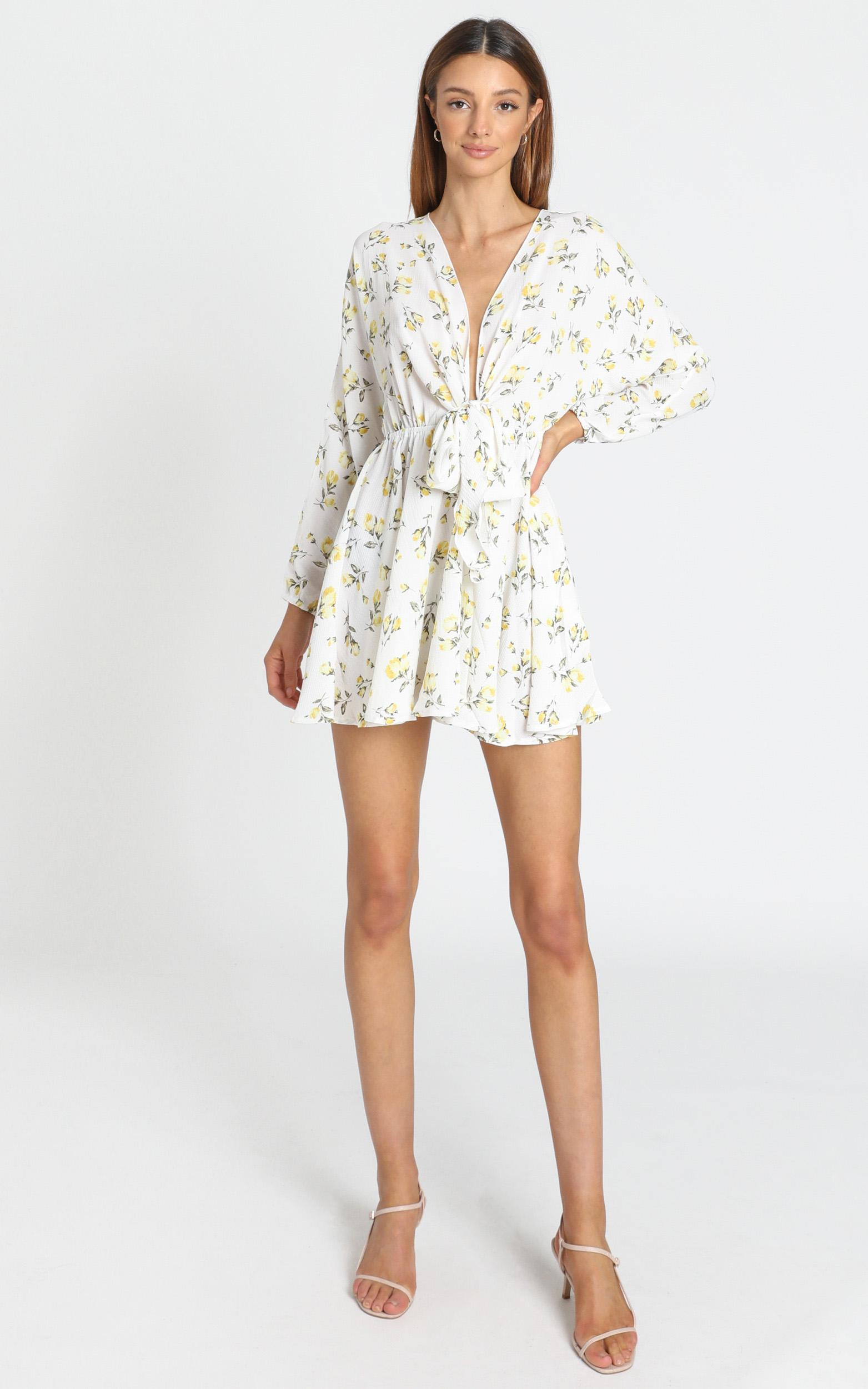 Lone Star Dress in White Floral - 6 (XS), White, hi-res image number null