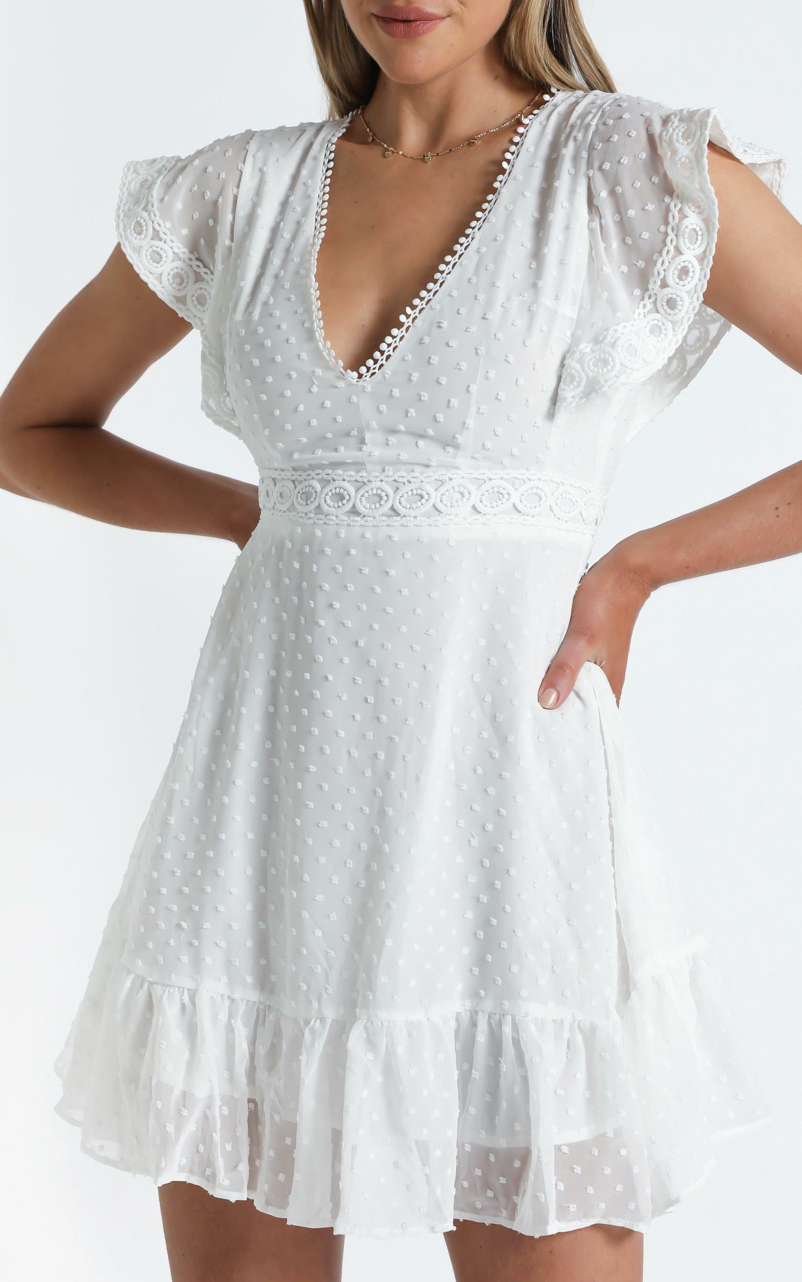 Once upon a daydream dress in white - 20 (XXXXL), White, hi-res image number null