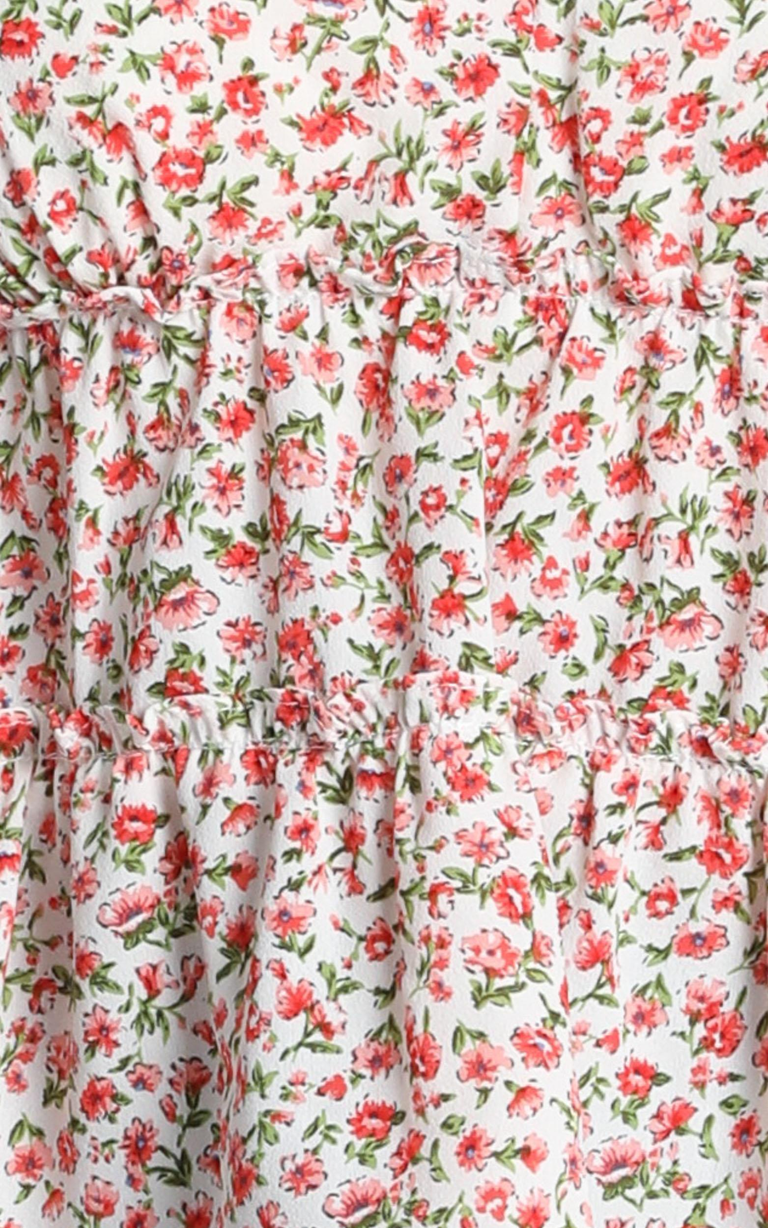 Age Of Chance Top in floral - 12 (L), Red, hi-res image number null