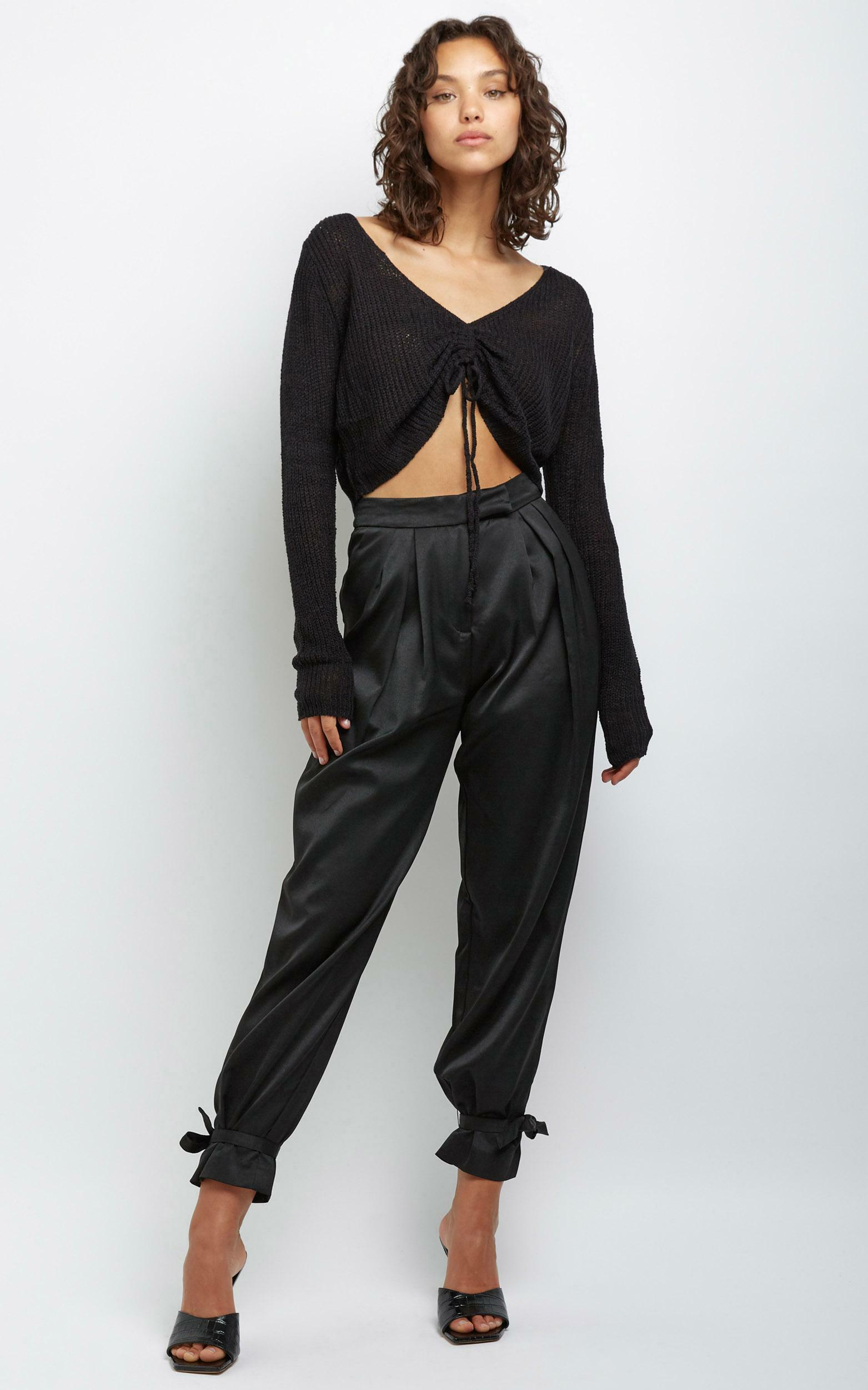 Anamarie Knit Top in Black - M/L, BLK1, hi-res image number null