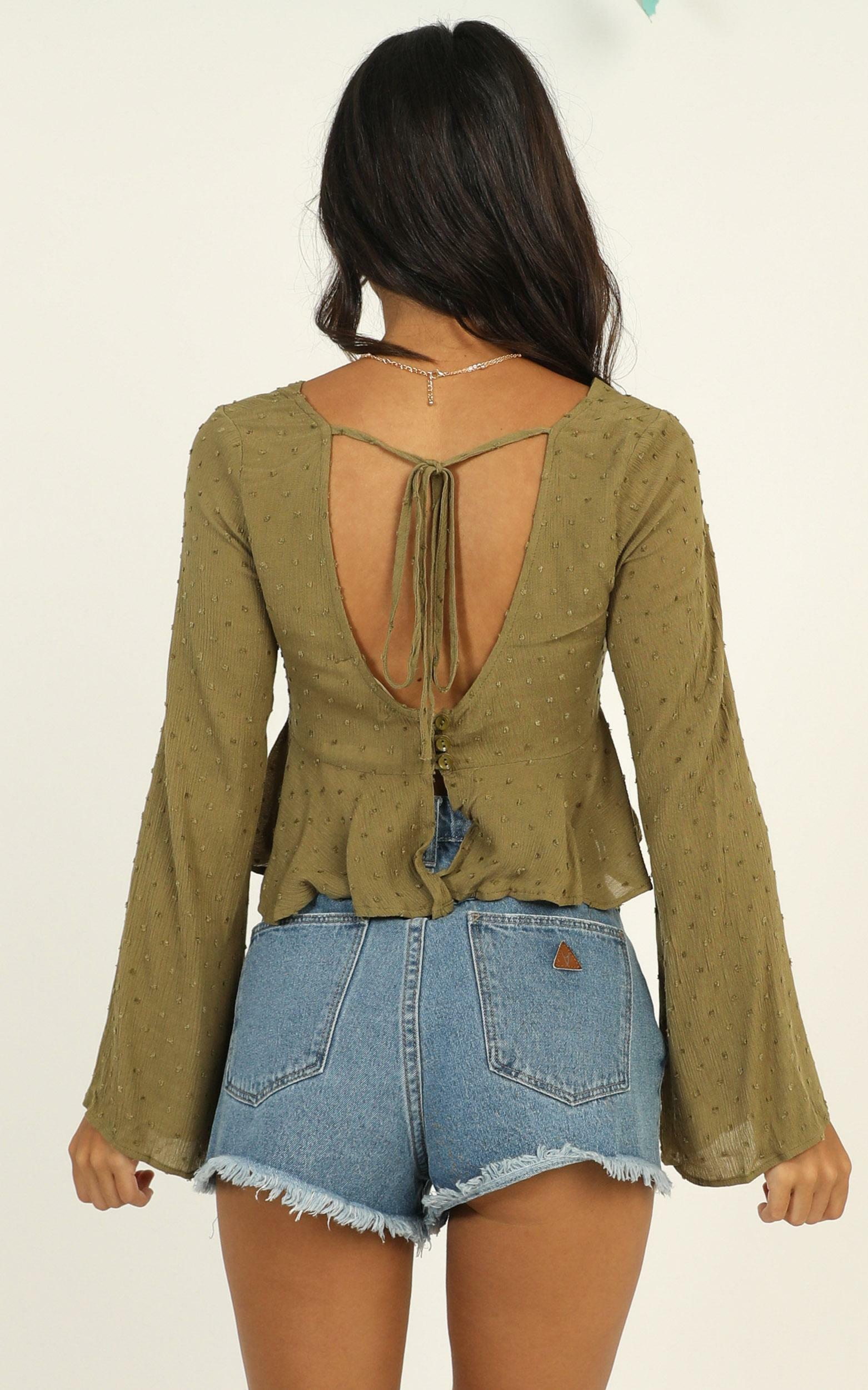 Let Me Hold You top in khaki - 12 (L), Khaki, hi-res image number null