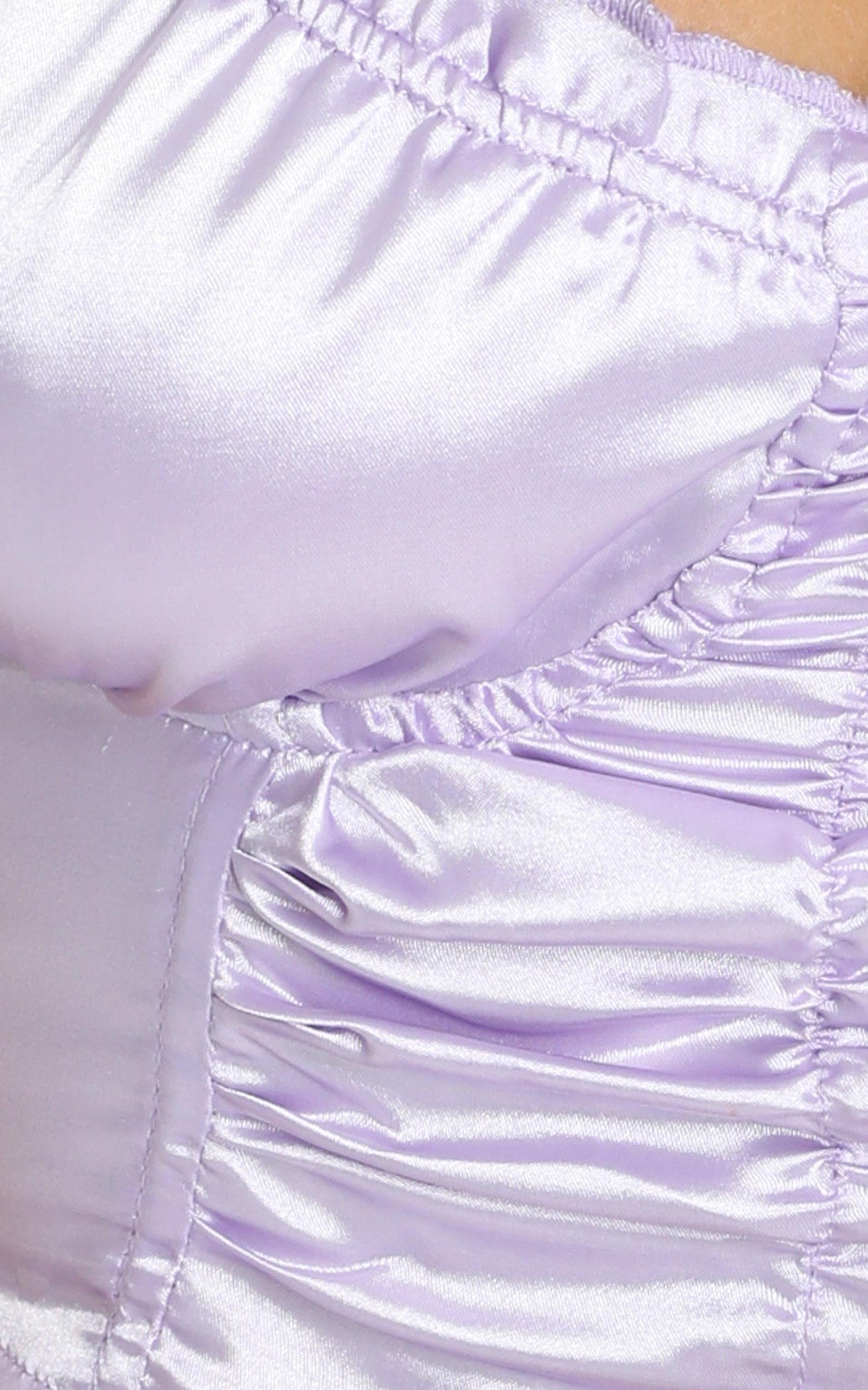 Learn To Be Still top in lilac satin - 12 (L), Purple, hi-res image number null