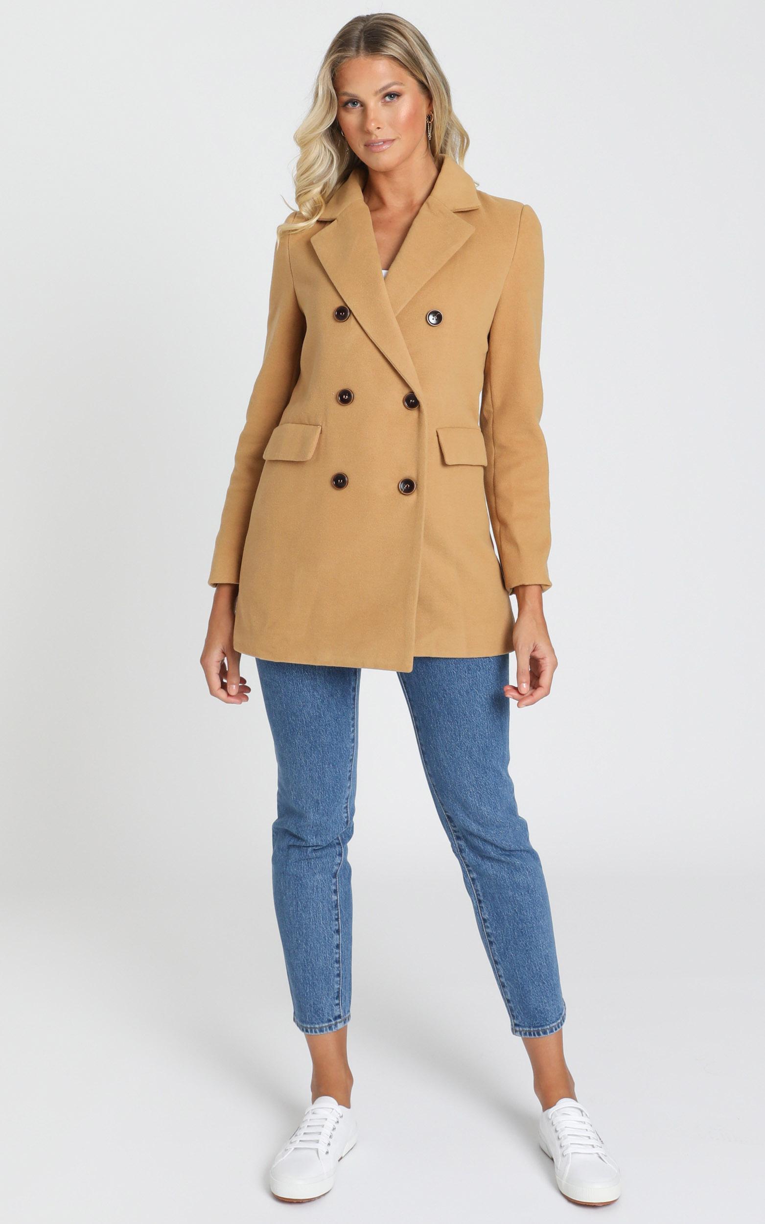 Confidence Is Key Blazer Coat in beige - 20 (XXXXL), Beige, hi-res image number null