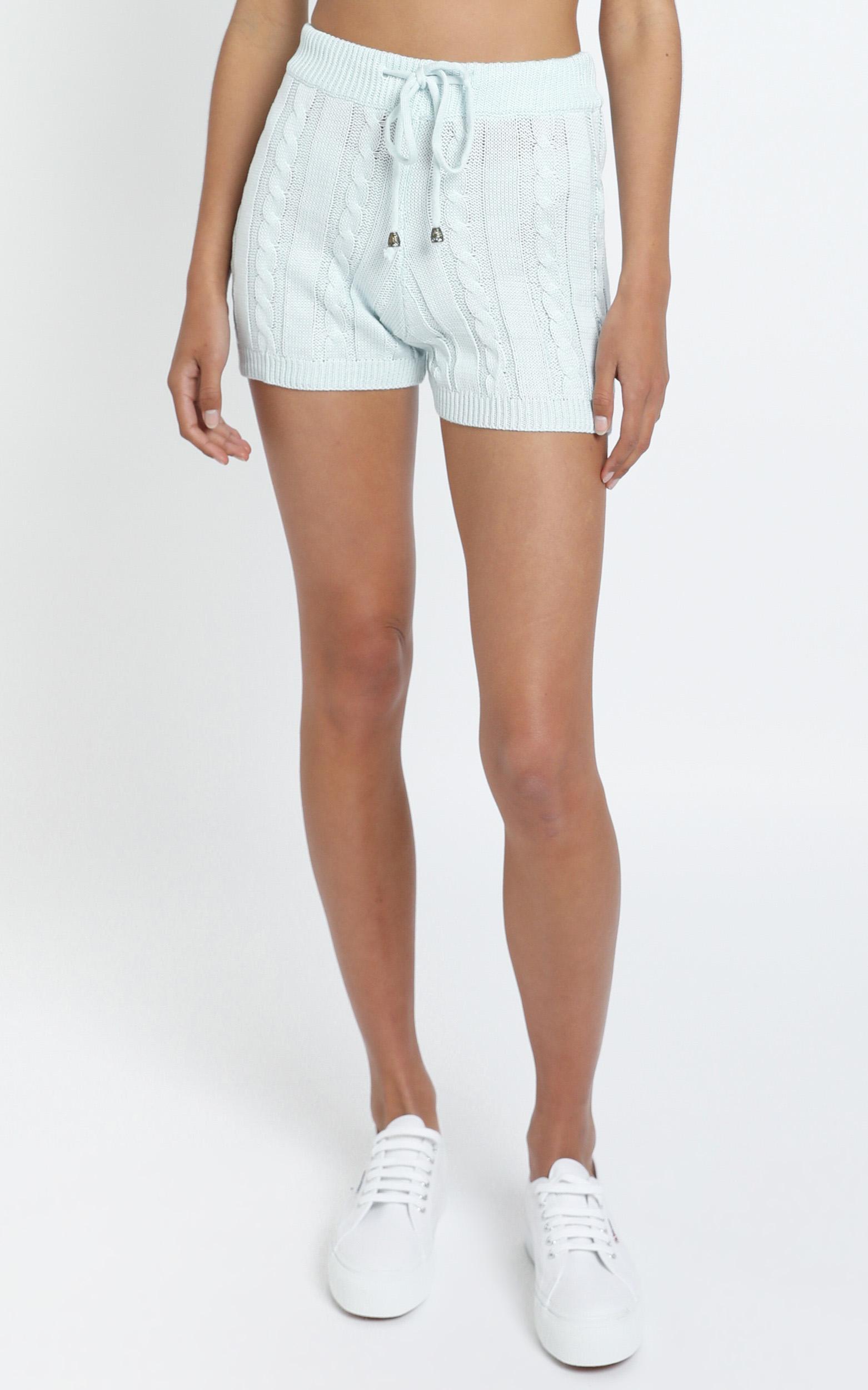 Celinna Knit Shorts in Grey - L, Grey, hi-res image number null