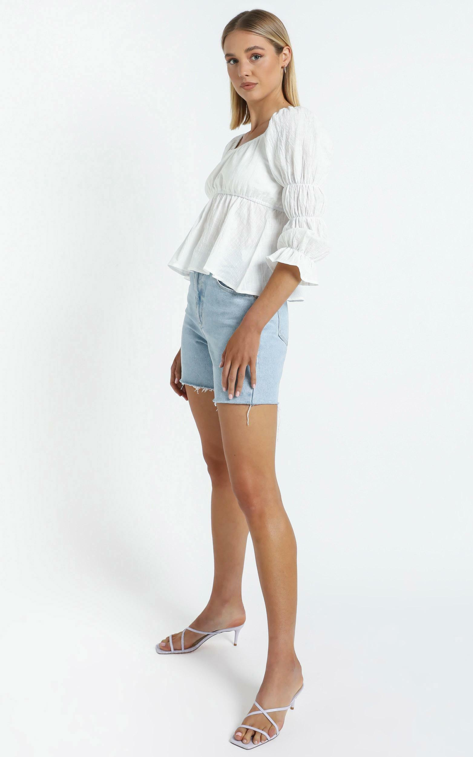 Mullins Top in White - 14 (XL), White, hi-res image number null