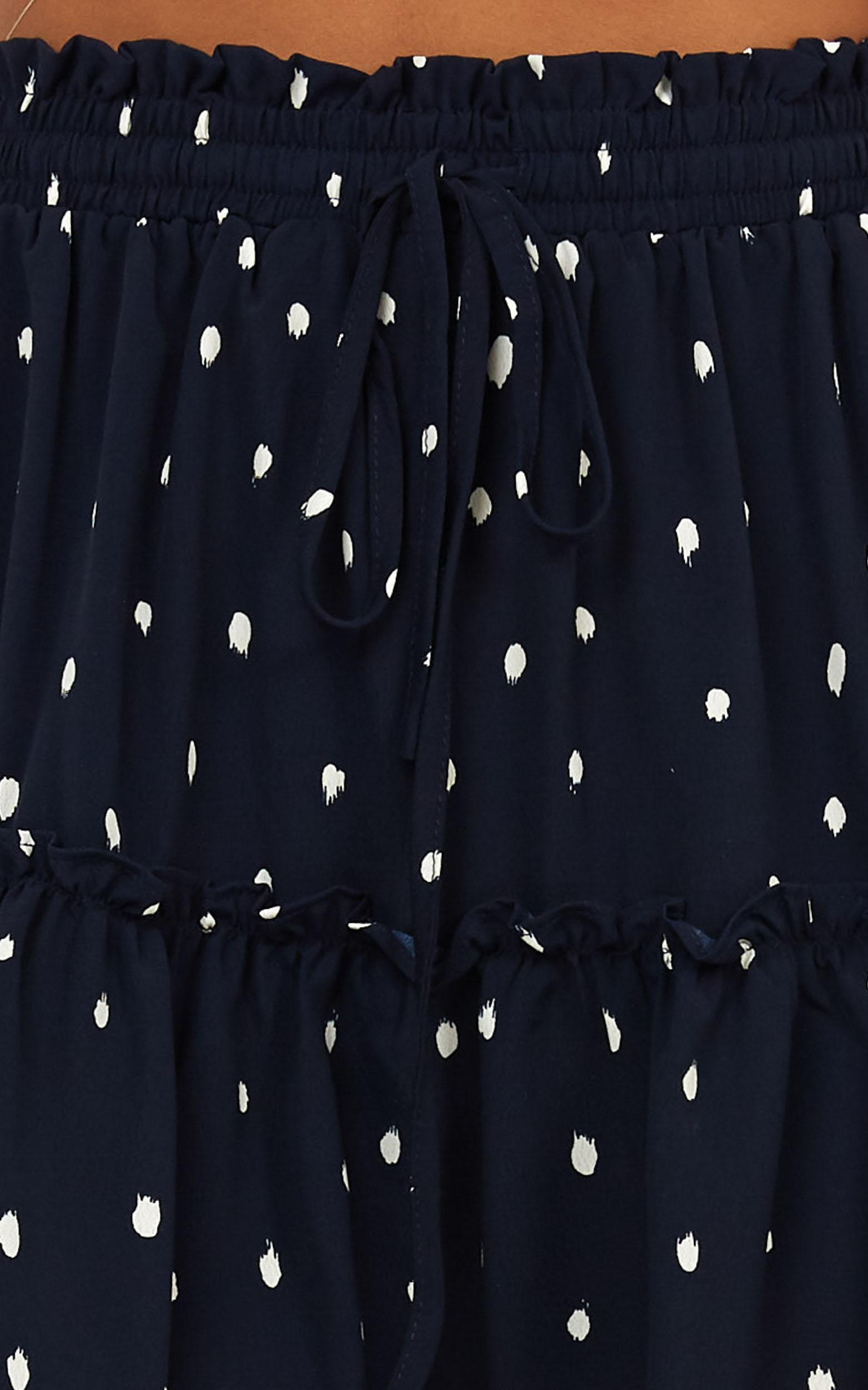 Shes Perfect skirt in navy spot - 14 (XL), Navy, hi-res image number null