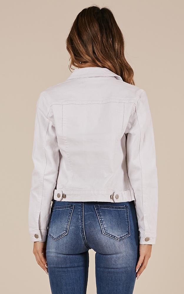 Clear Days Denim Jacket in white - 20 (XXXXL), White, hi-res image number null