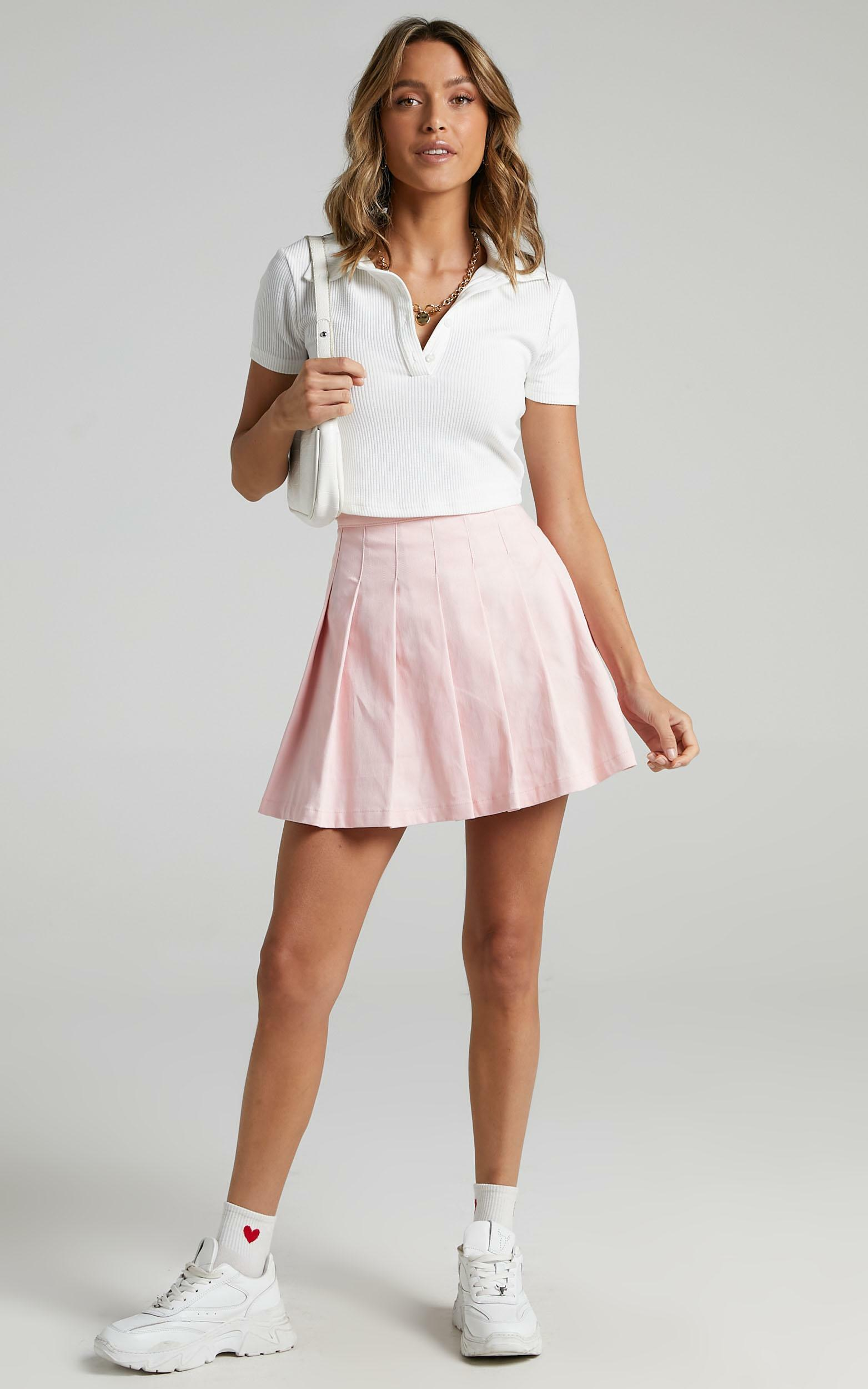 Cailin Pleated Skirt in Pink - 6 (XS), Pink, hi-res image number null