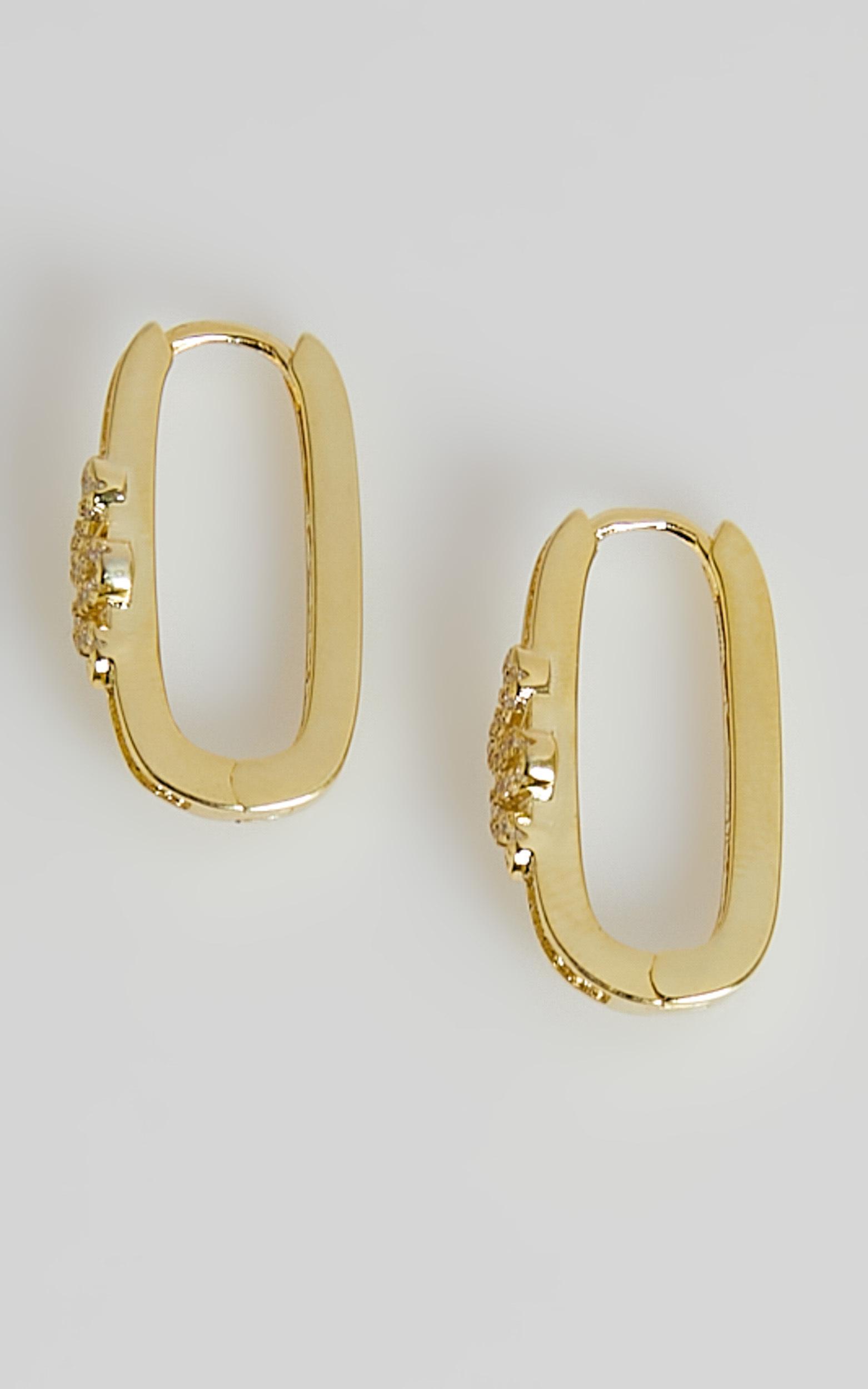 Izoa - Viper Hoop Earrings in Gold, GLD1, hi-res image number null