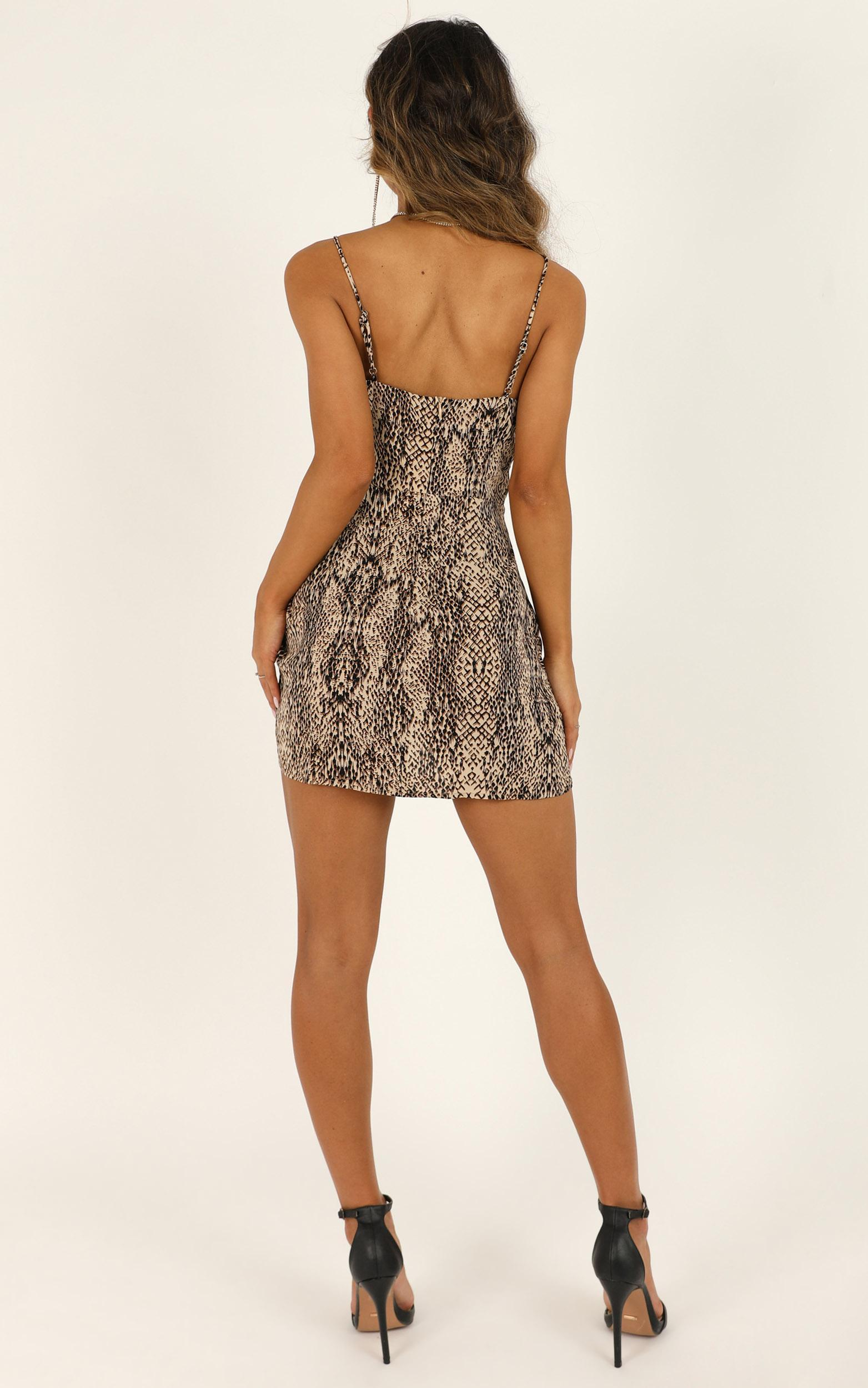 Its Ok Dress in leopard print - 12 (L), Brown, hi-res image number null