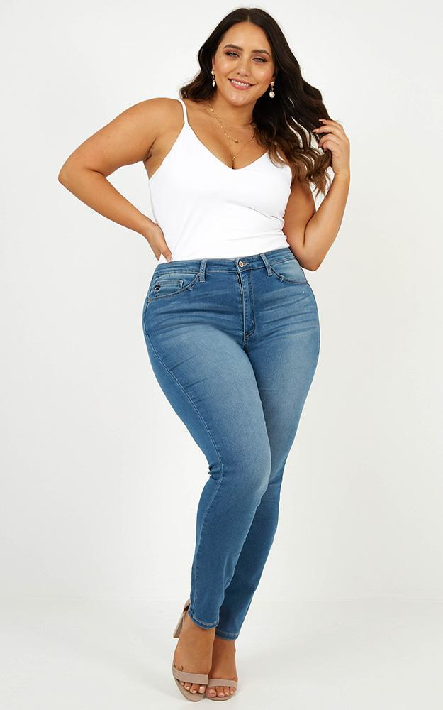 Abigail skinny jeans in mid wash - 12 (L), Blue, hi-res image number null