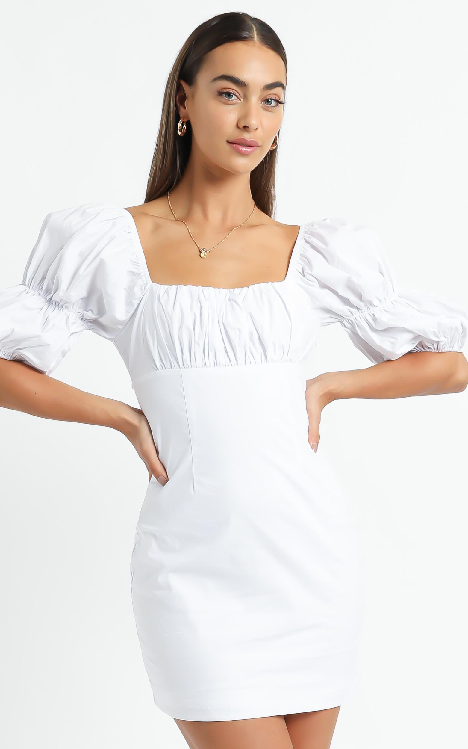 Adalira Dress in White - 6 (XS), White, hi-res image number null
