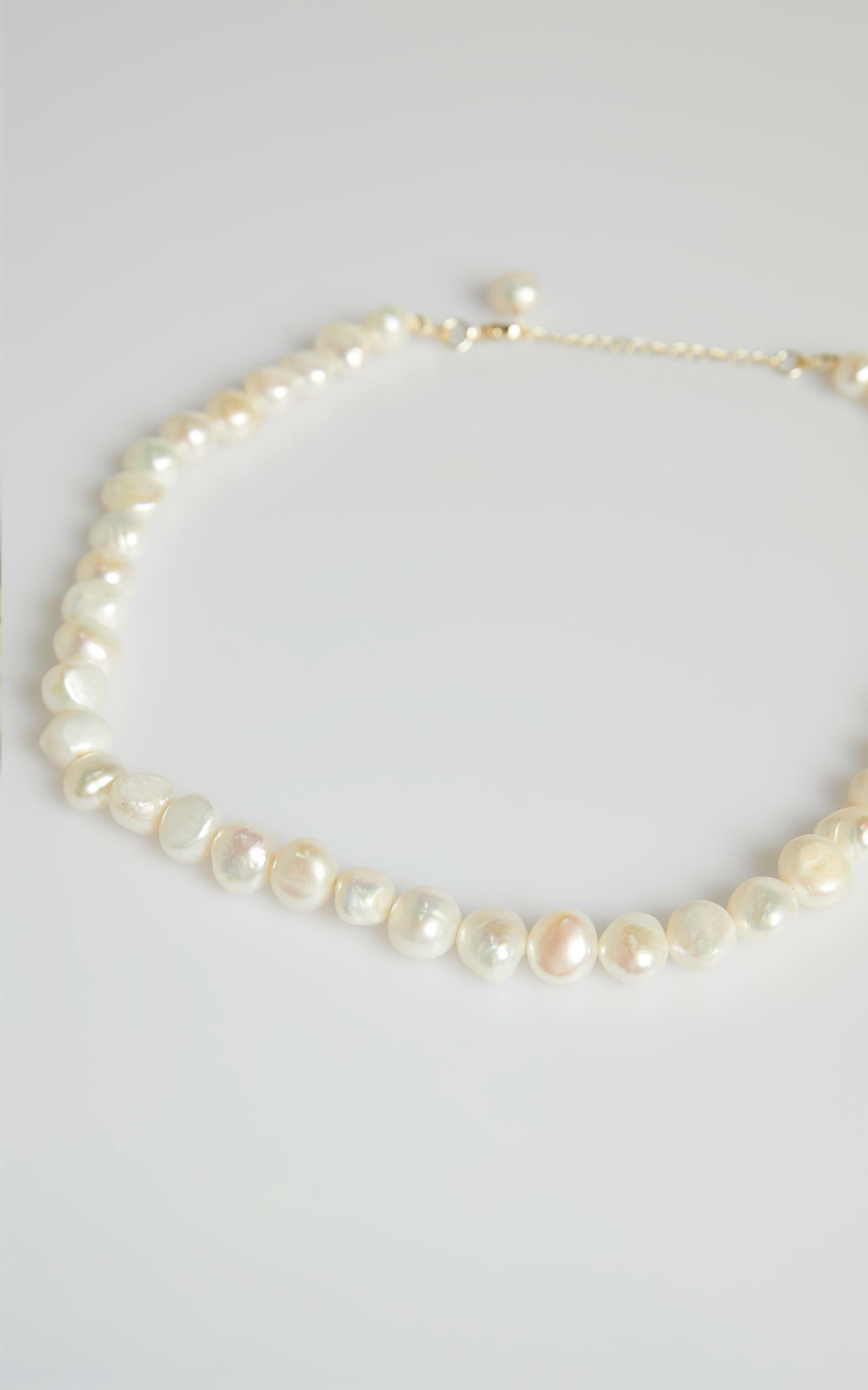 You Are Beautiful Necklace in Pearl, WHT1, hi-res image number null
