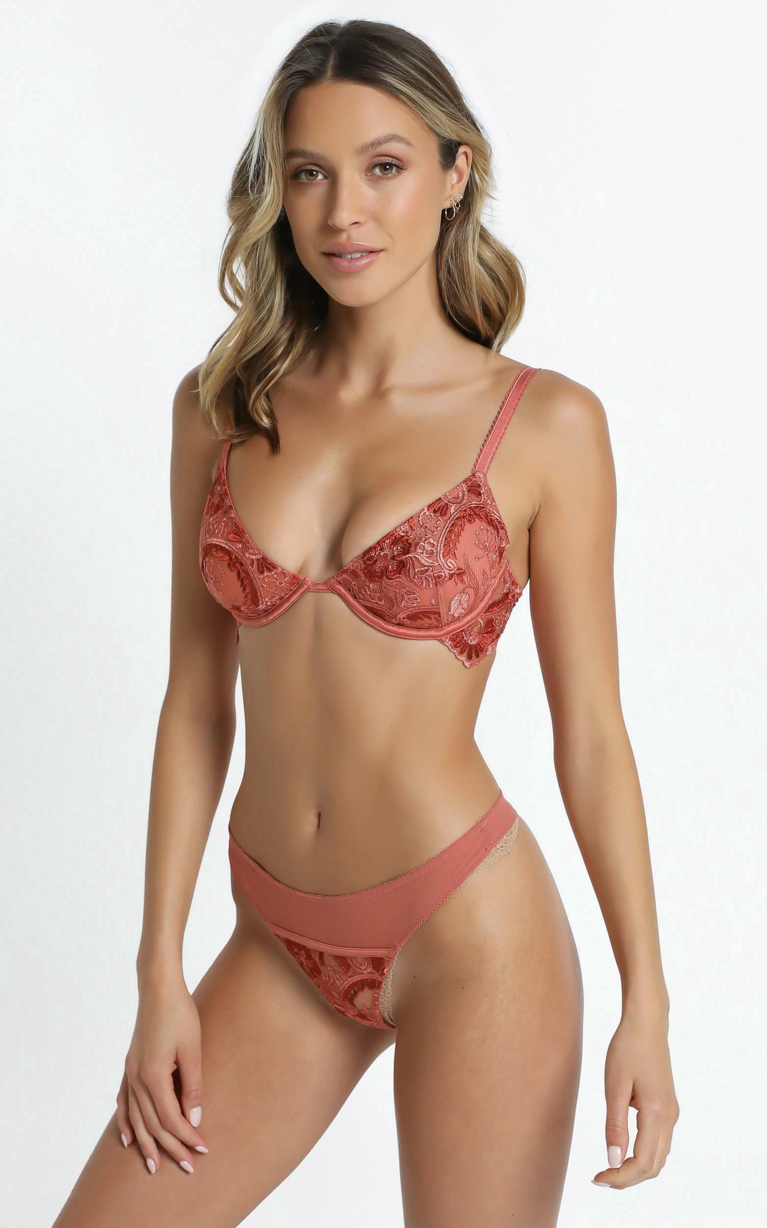 Kat The Label - Penelope Underwire Bra in Tangerine - XS, ORG2, hi-res image number null