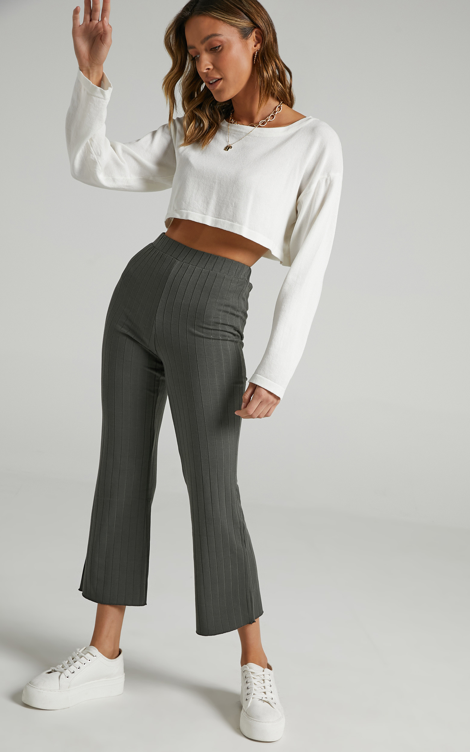 Alondra Pants in Khaki - 14 (XL), GRN1, hi-res image number null