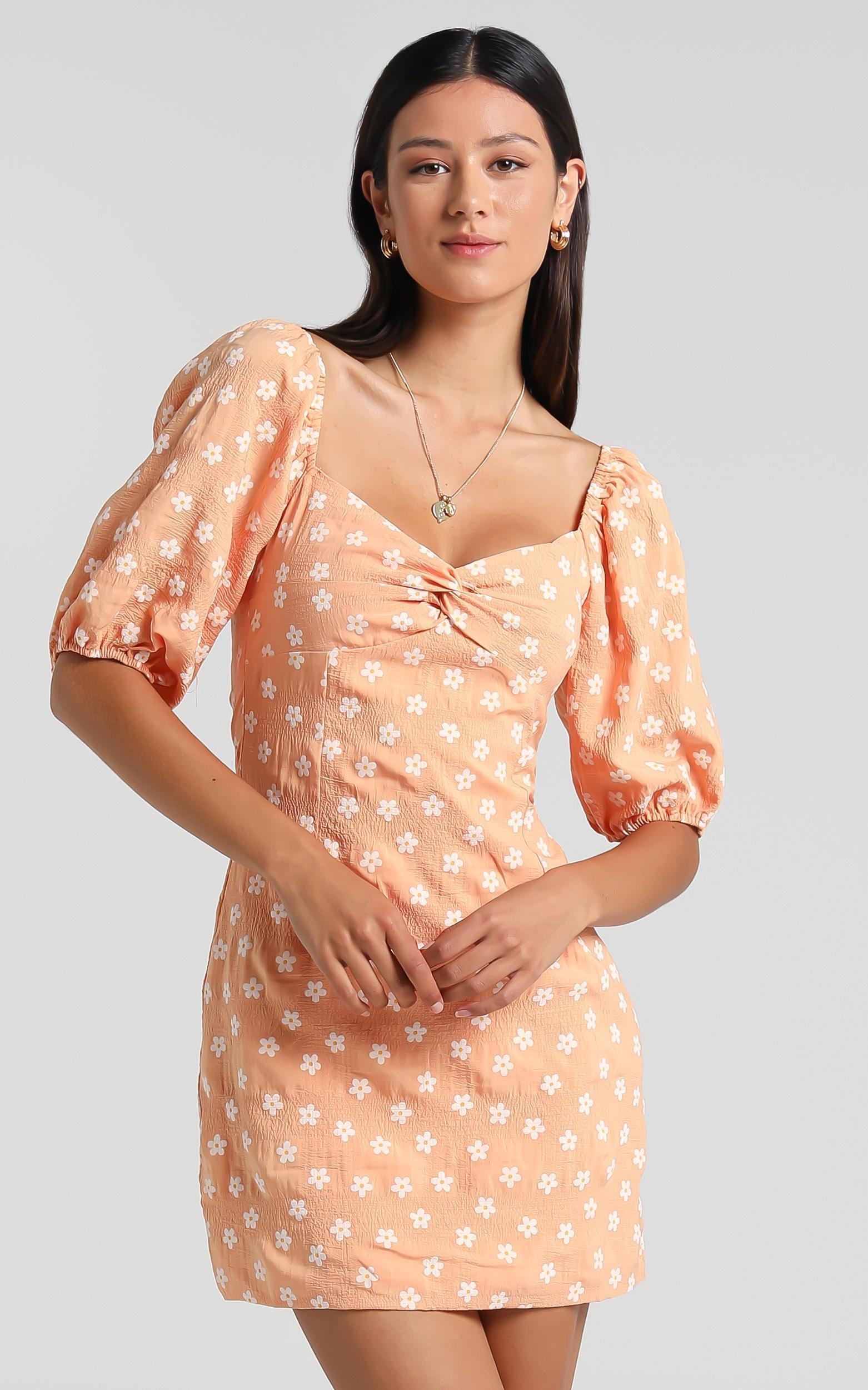 Chorley Dress in Orange Floral - 06, ORG1, hi-res image number null