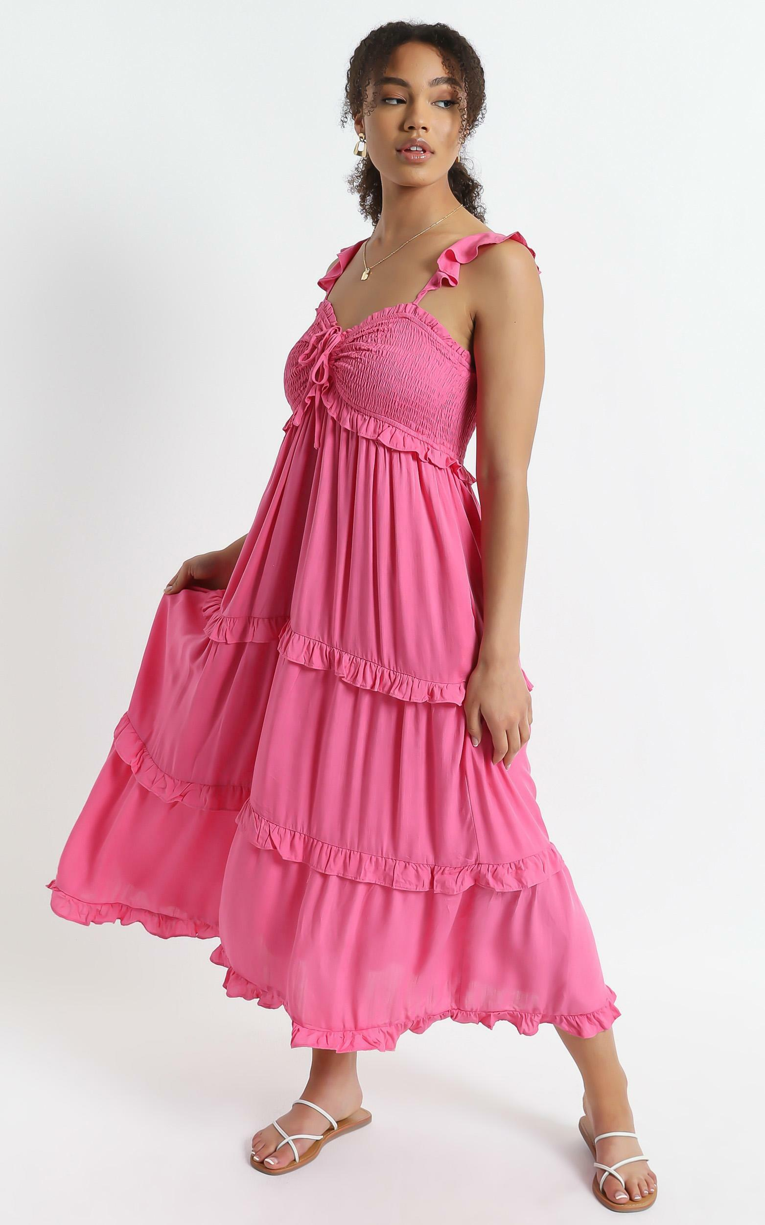 Good For The Soul Dress In Pink - 6 (XS), Pink, hi-res image number null