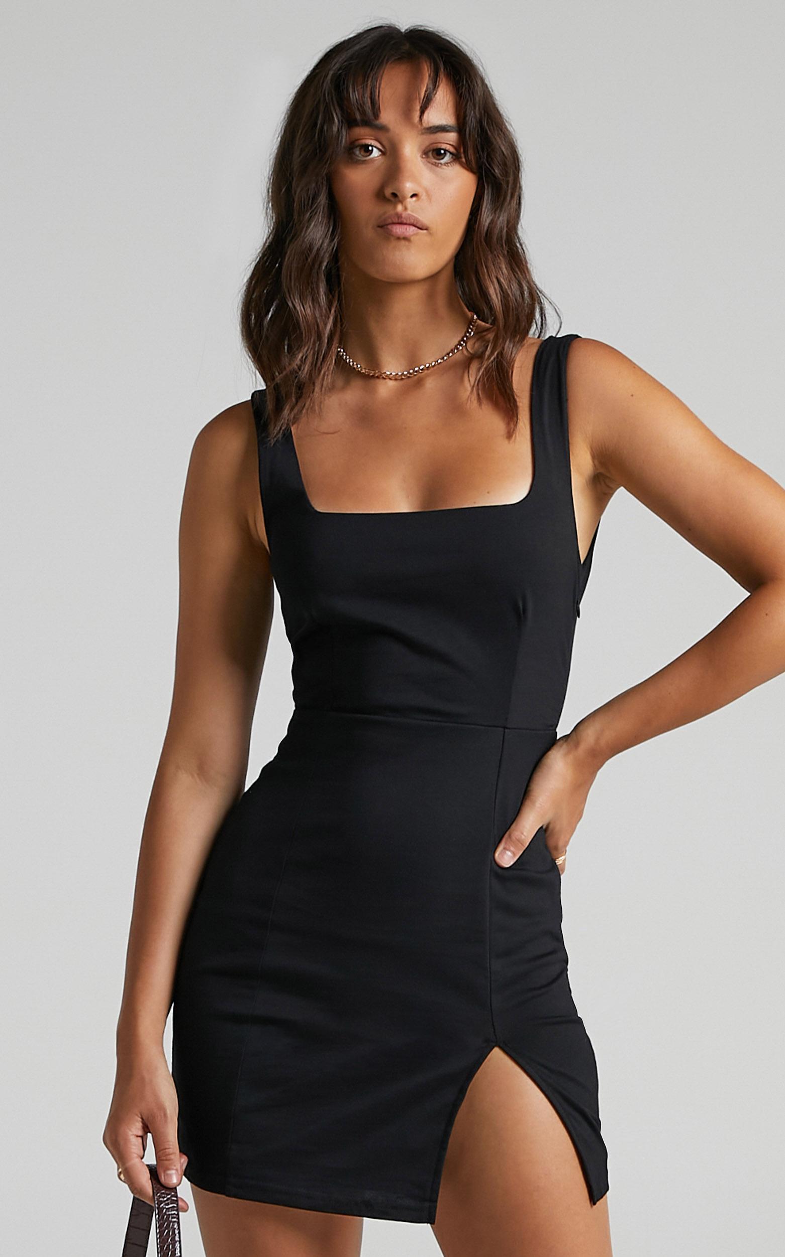 Hughes Dress in Black - 6 (XS), Black, hi-res image number null