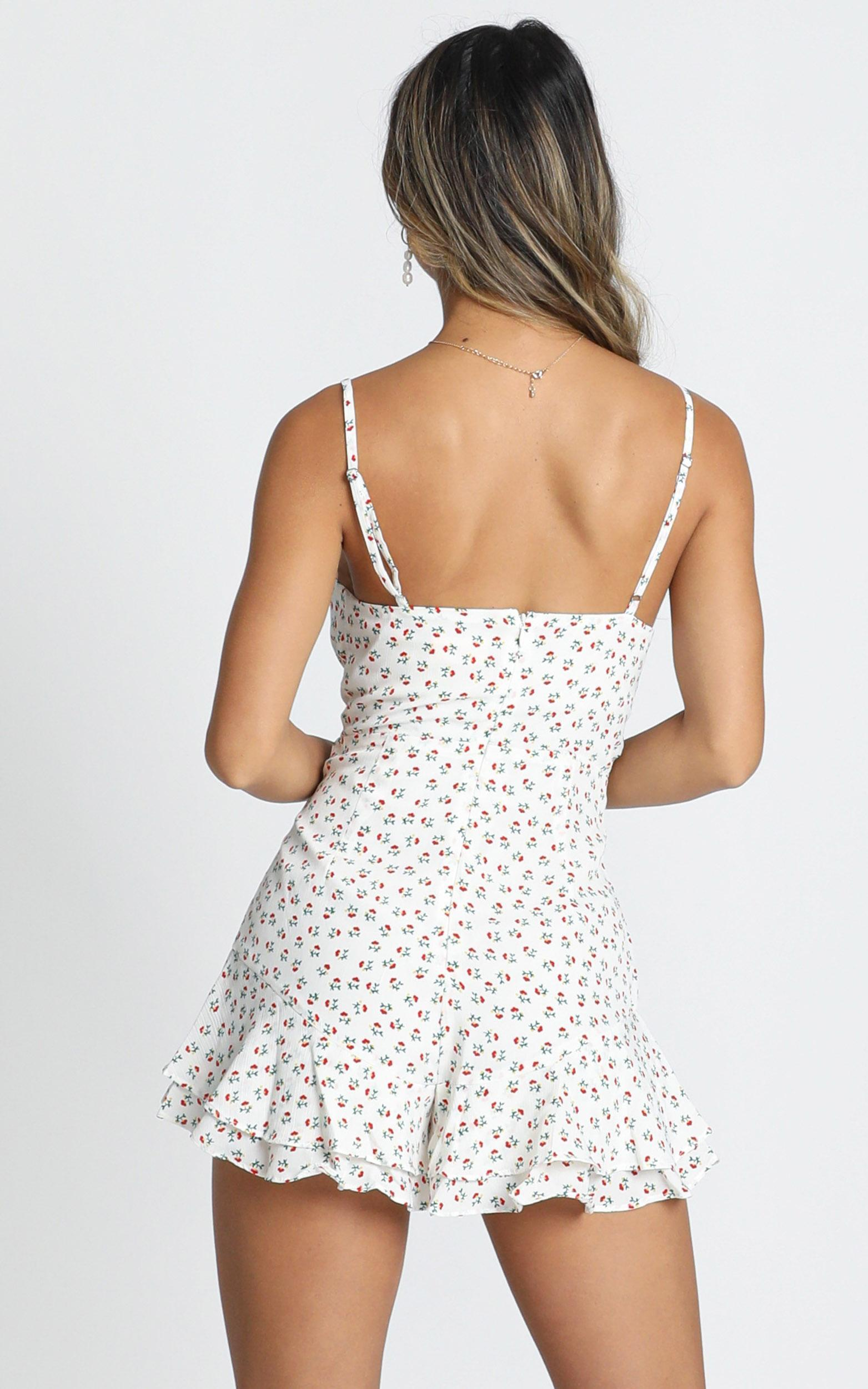 Fountain Of Youth Playsuit In white floral - 20 (XXXXL), White, hi-res image number null