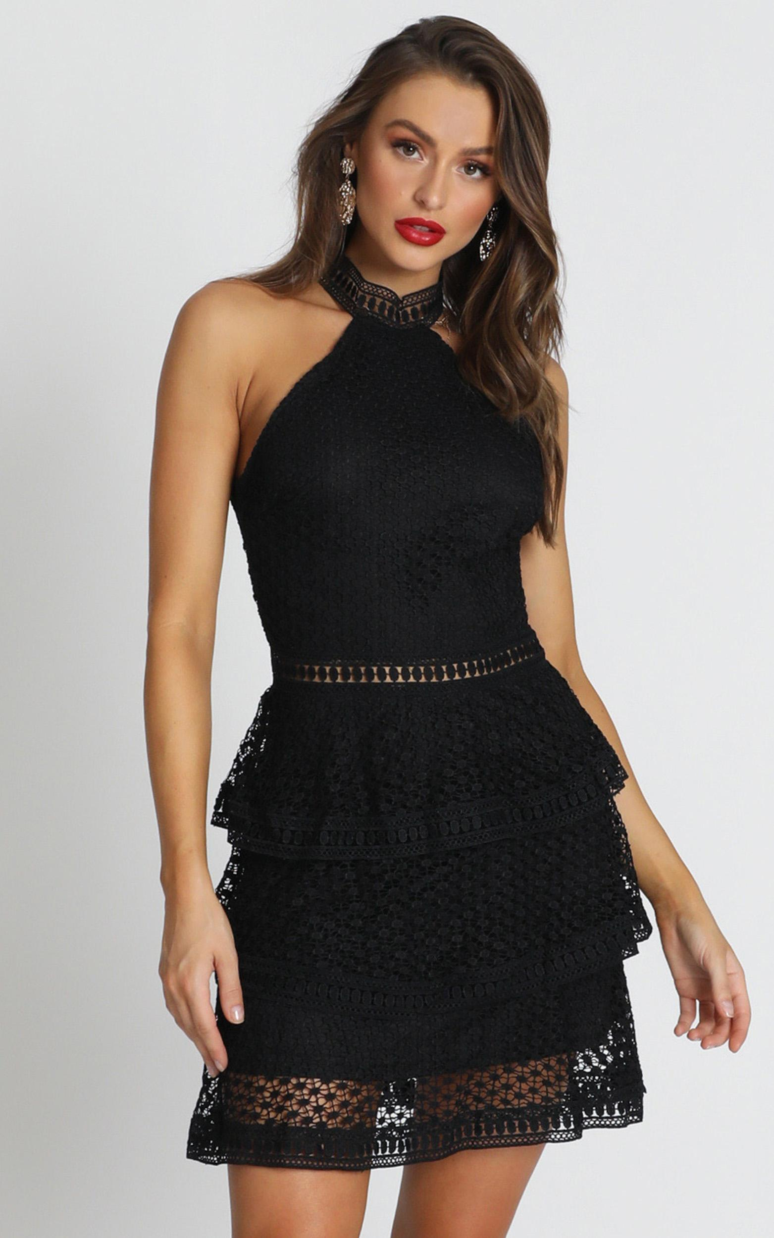 Miami Night dress in black lace - 12 (L), Black, hi-res image number null