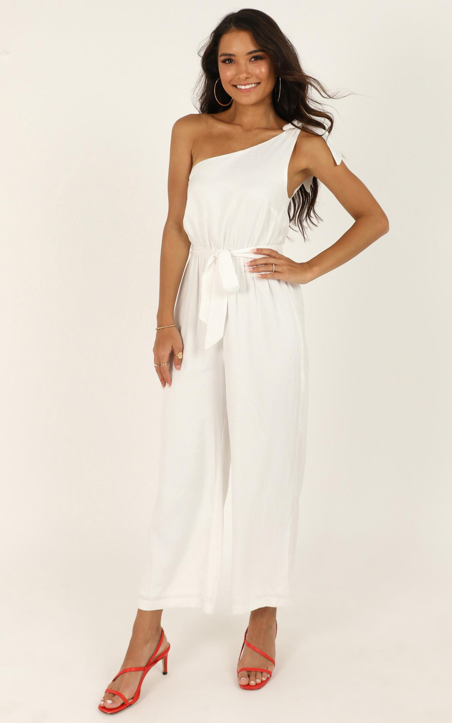 Secret Intentions Jumpsuit in white - 14 (XL), White, hi-res image number null