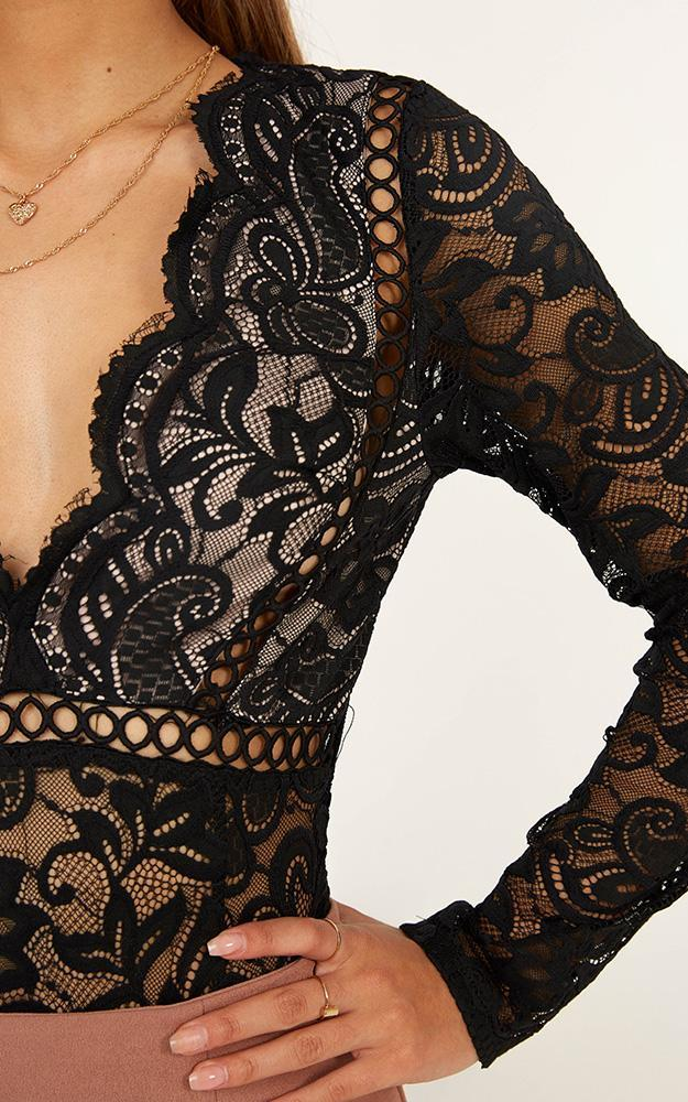 Love Buzz bodysuit in black lace - 14 (XL), Black, hi-res image number null