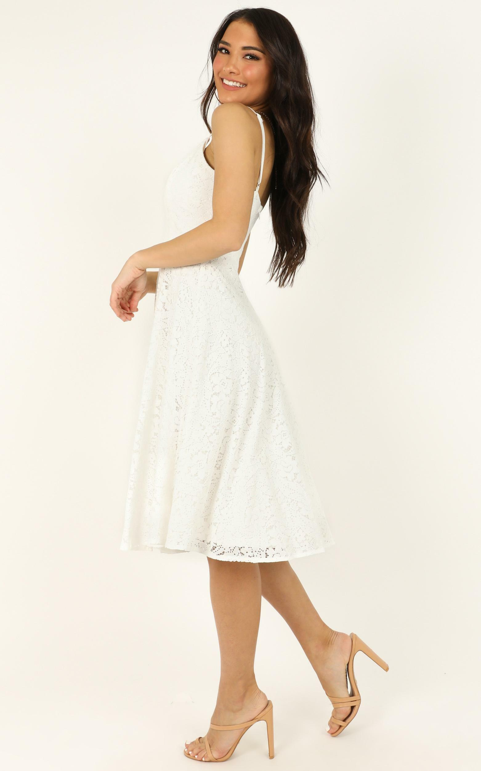 Far Beyond Dress in white lace - 20 (XXXXL), White, hi-res image number null