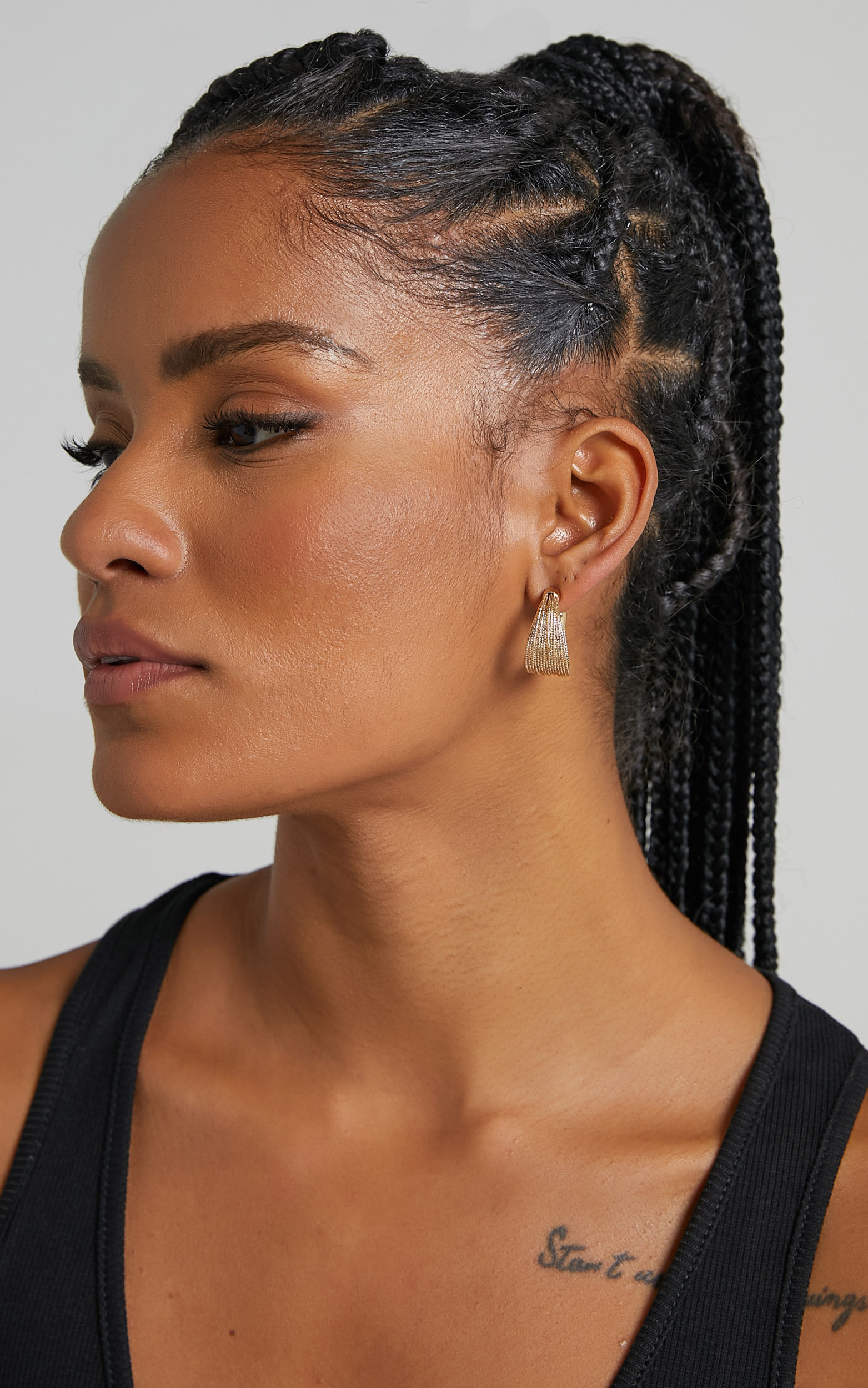 Claud Earrings in Gold, GLD1, hi-res image number null