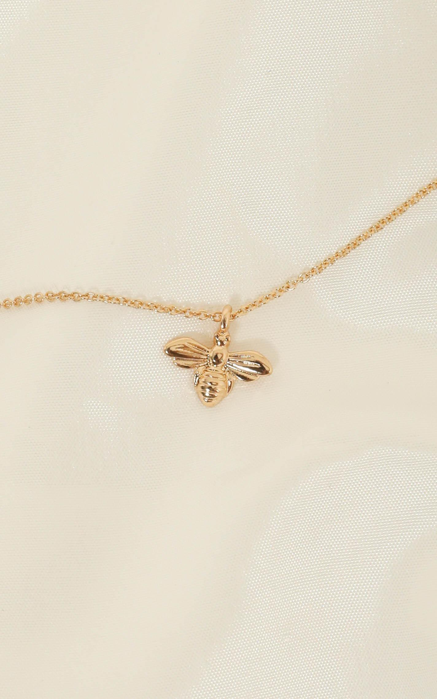 Honey Bee Necklace in Gold, , hi-res image number null