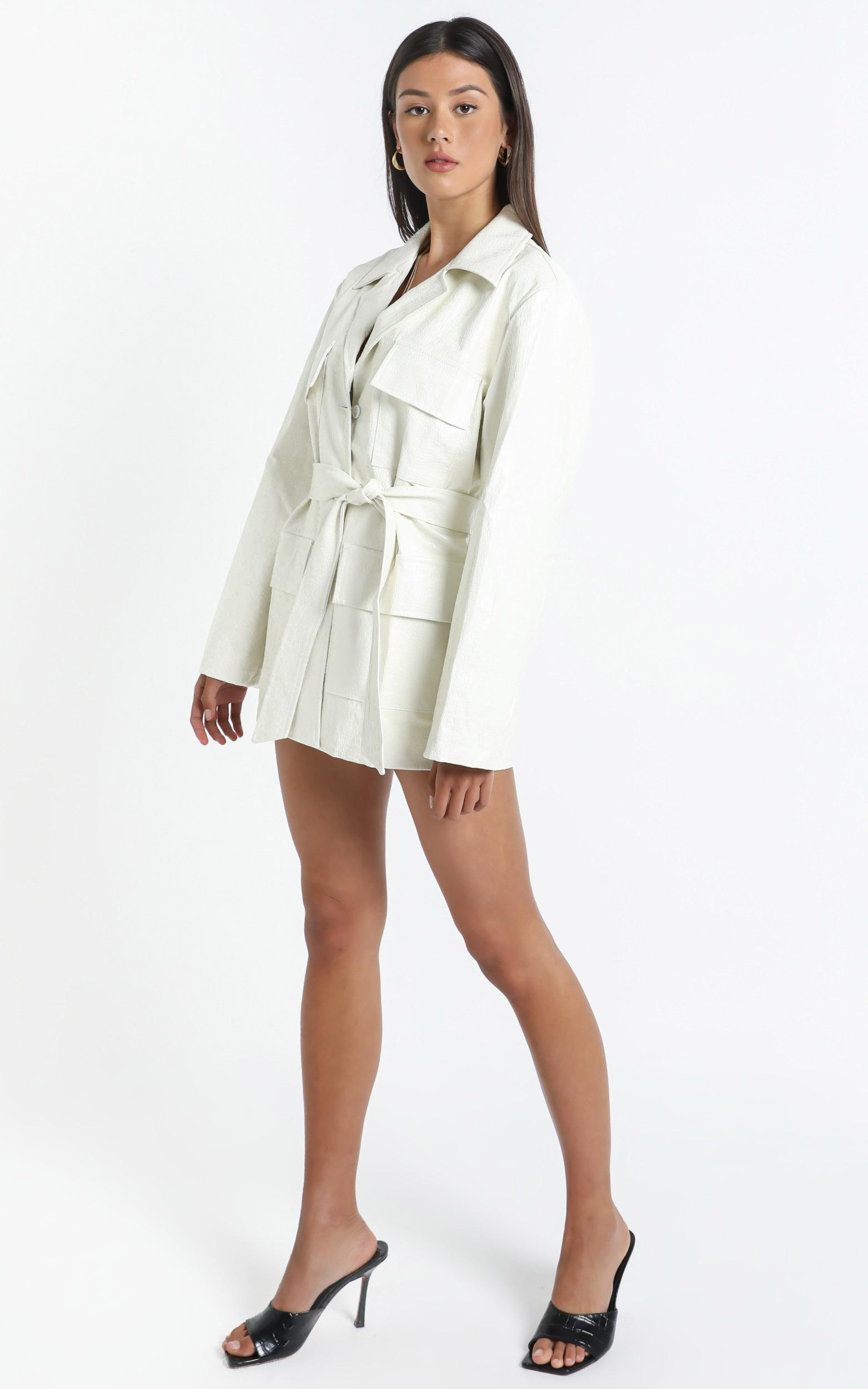 Victory Boulevard Dress in White - 12 (L), White, hi-res image number null