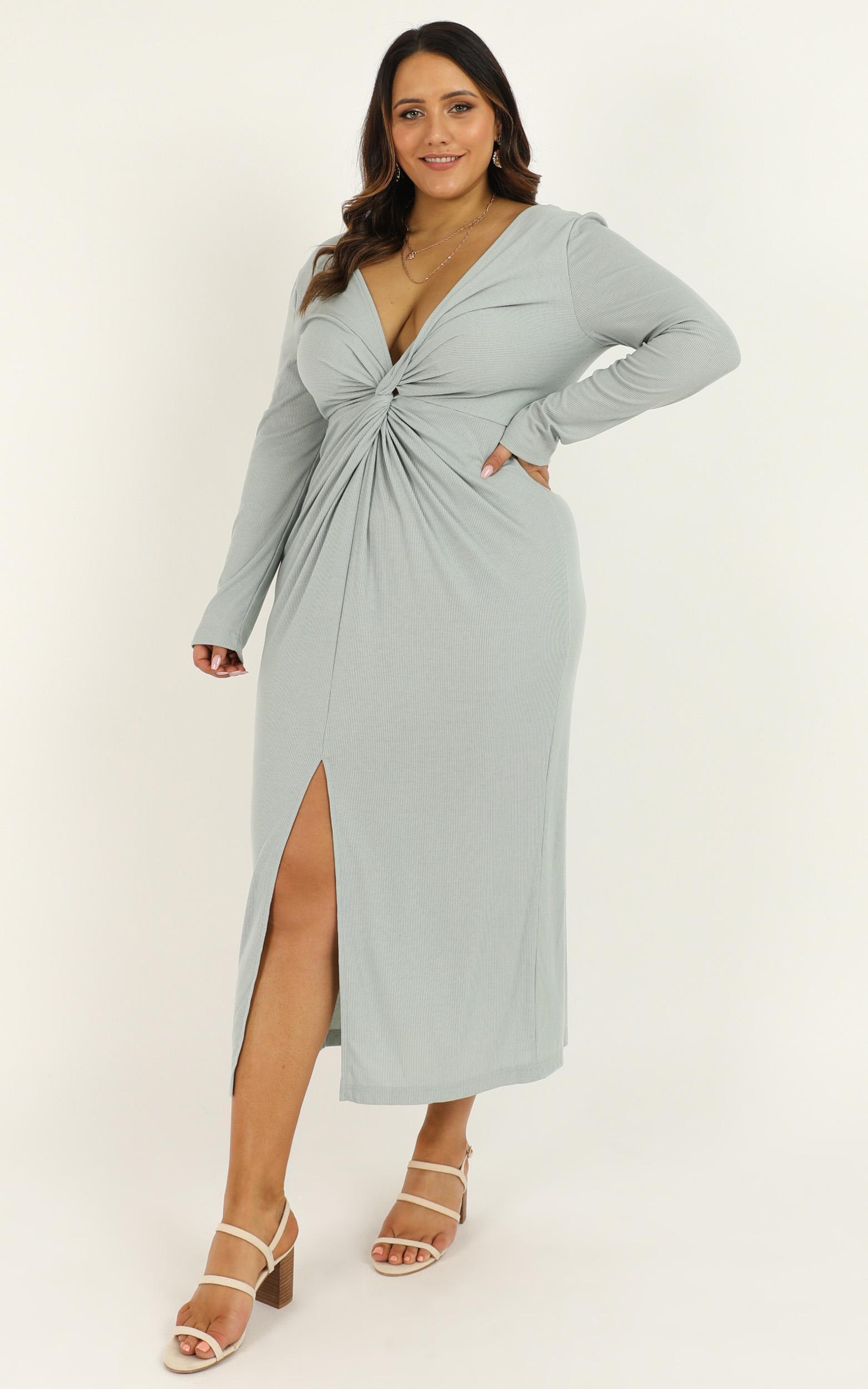 Prime Dress in sage rib - 10 (M), Sage, hi-res image number null