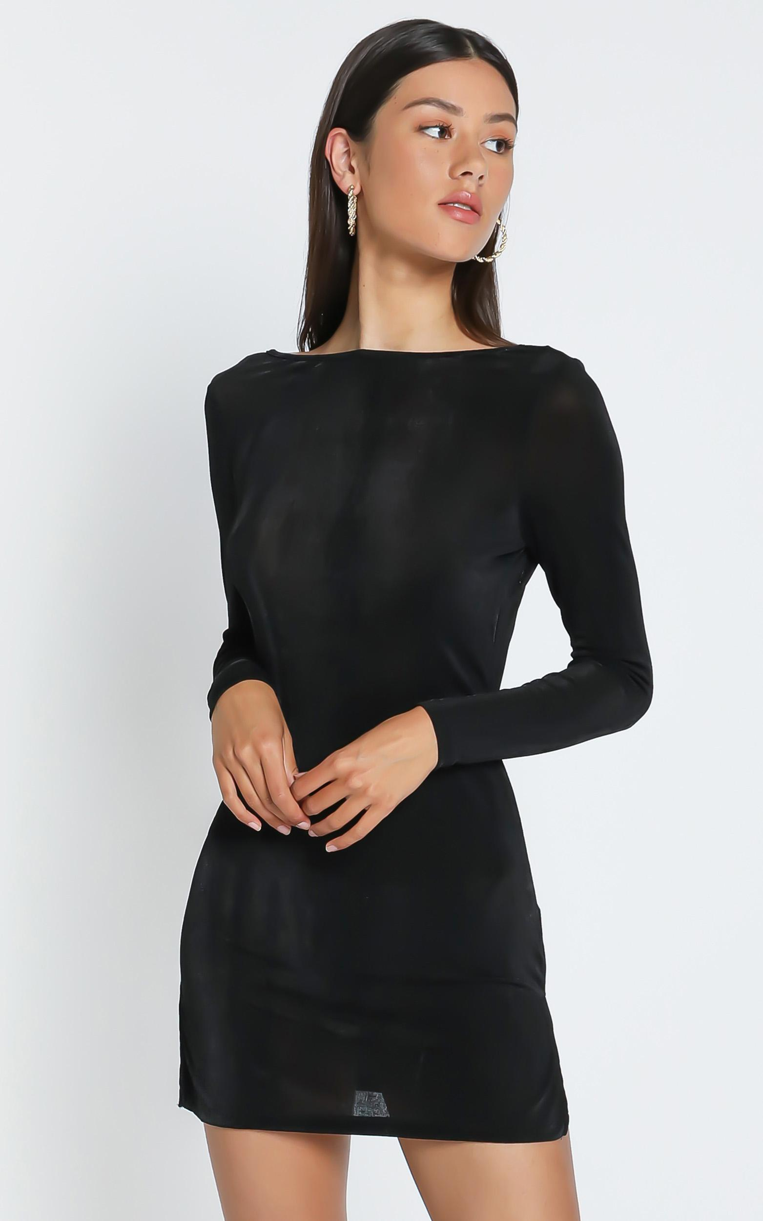 Lioness - Montana Mini Dress in Black - 4 (XXS), BLK1, hi-res image number null