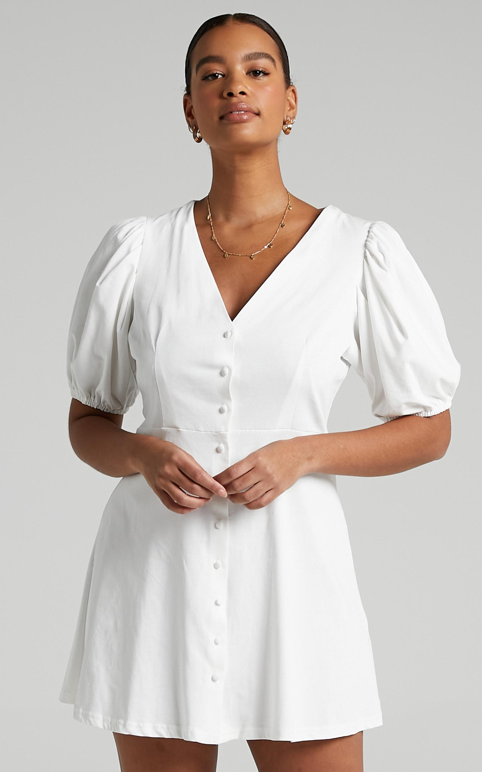 Rochelle Dress in White - 6 (XS), White, hi-res image number null