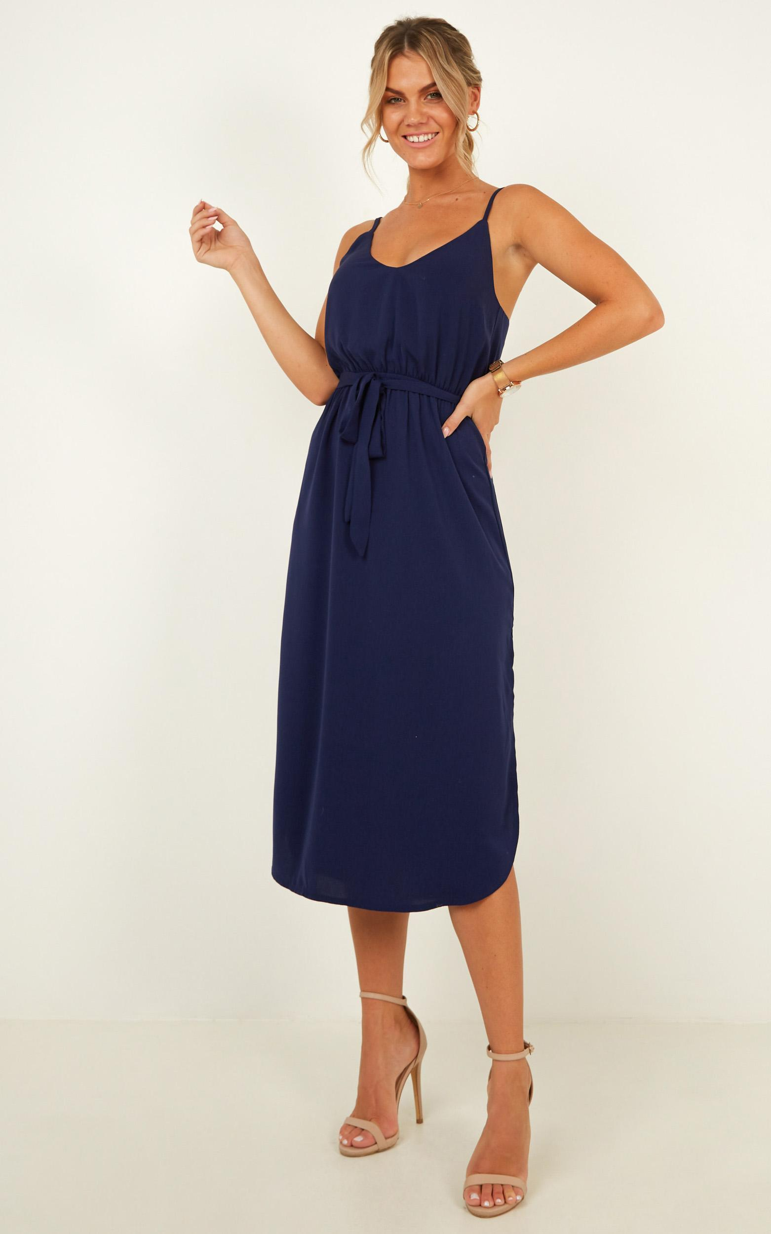 Straight For You Dress in navy - 20 (XXXXL), Navy, hi-res image number null
