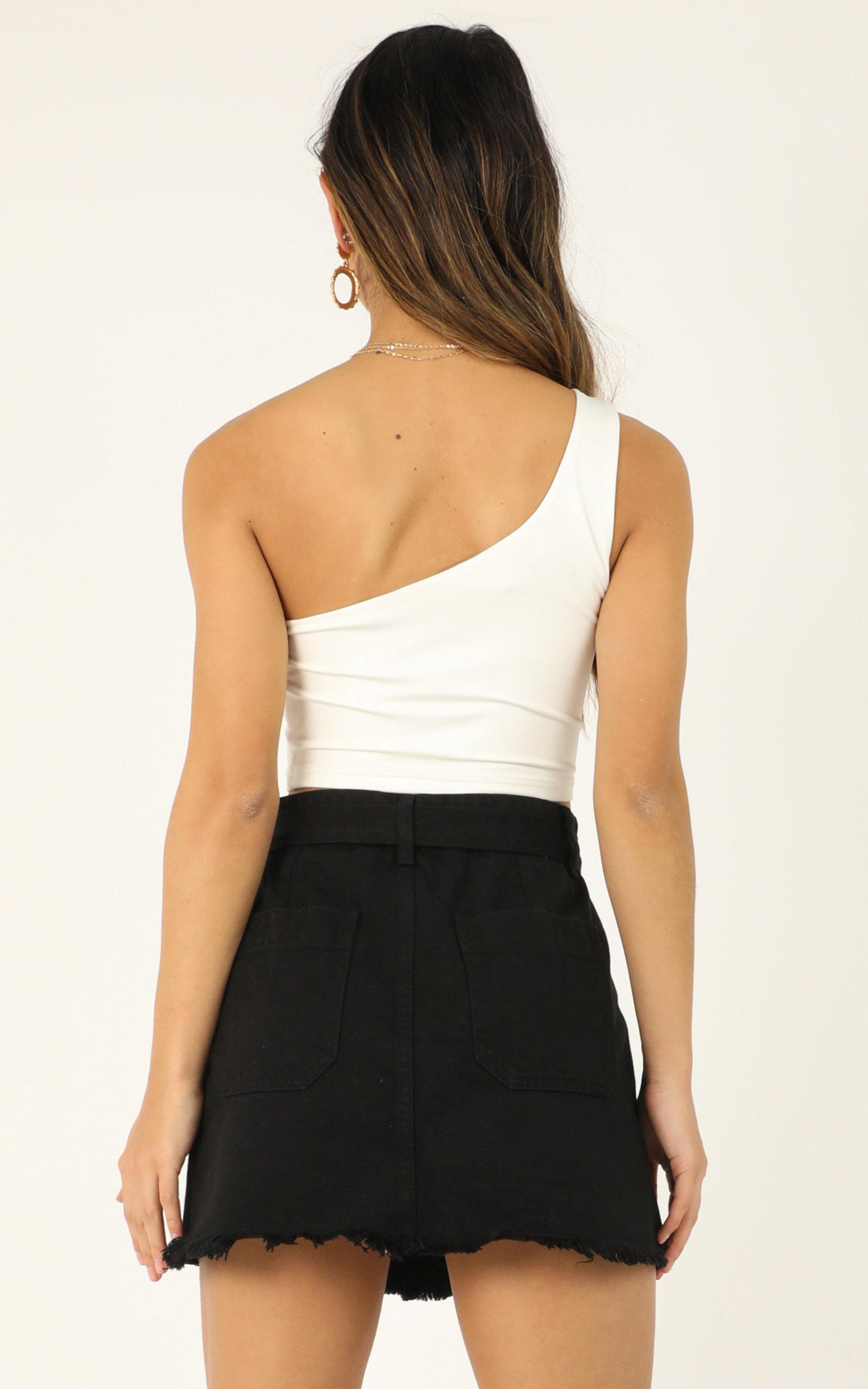 Coming over again denim skirt in black - 12 (L), Black, hi-res image number null