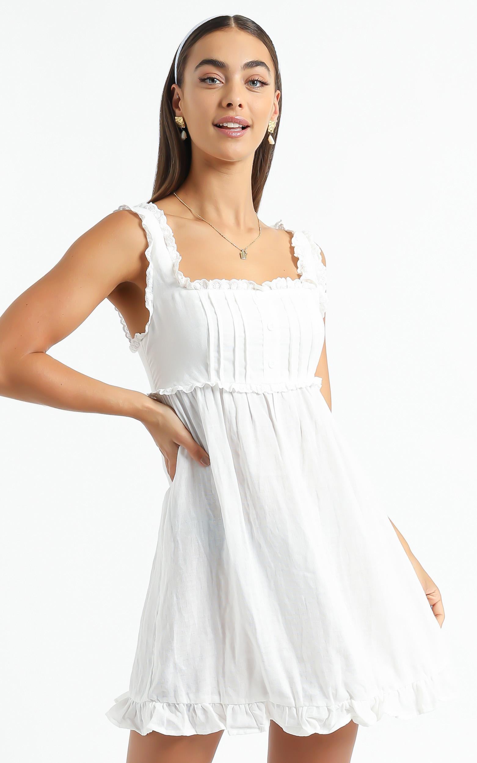 Danica Dress in White - 6 (XS), White, hi-res image number null