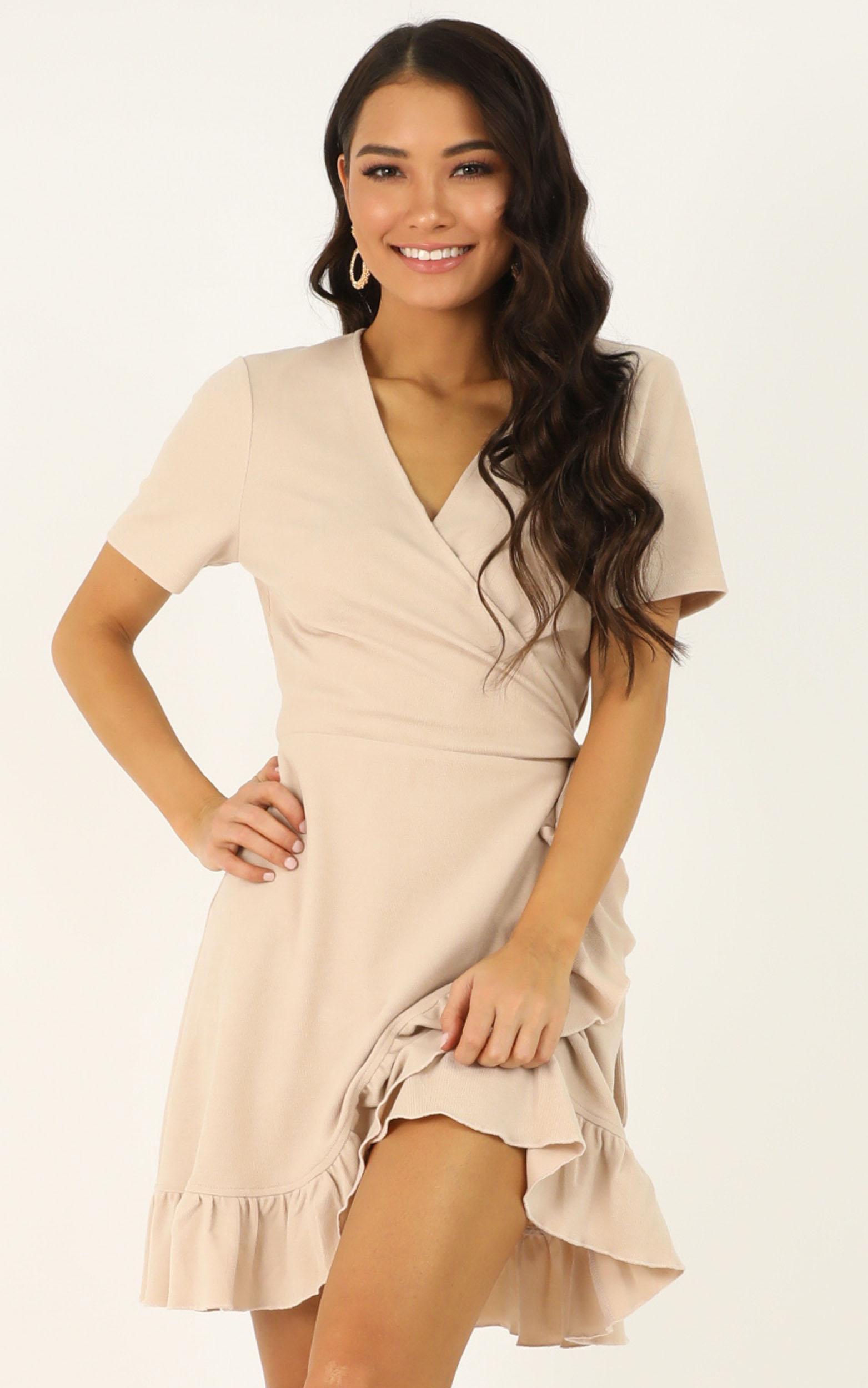 This is Happening Dress in cream - 12 (L), Cream, hi-res image number null