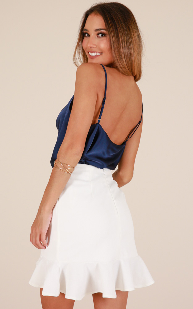 All The Same Top In Navy satin, Navy, hi-res image number null