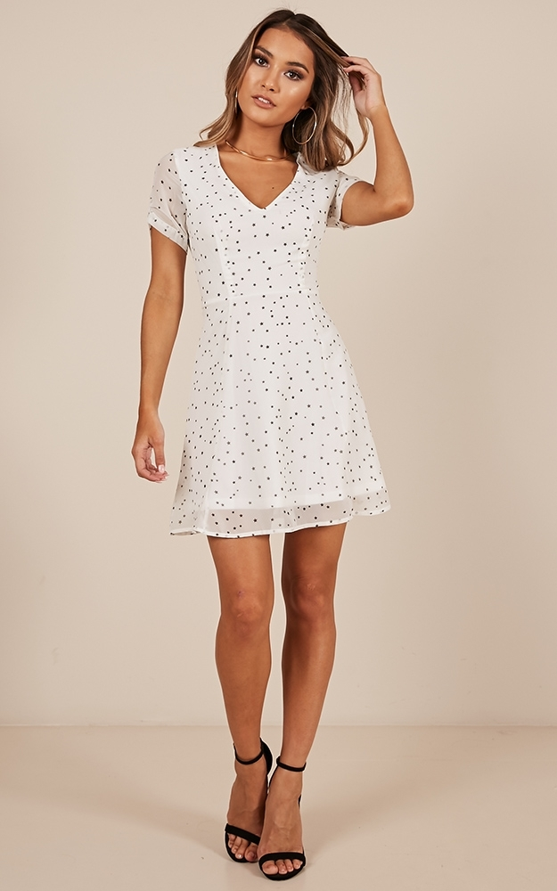 Casual Party dress in white print - 20 (XXXXL), WHT1, hi-res image number null