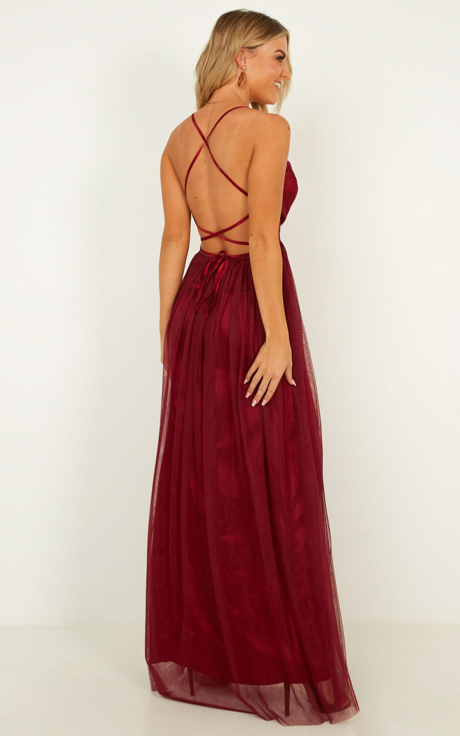 Make It Right Dress In wine - 20 (XXXXL), Wine, hi-res image number null