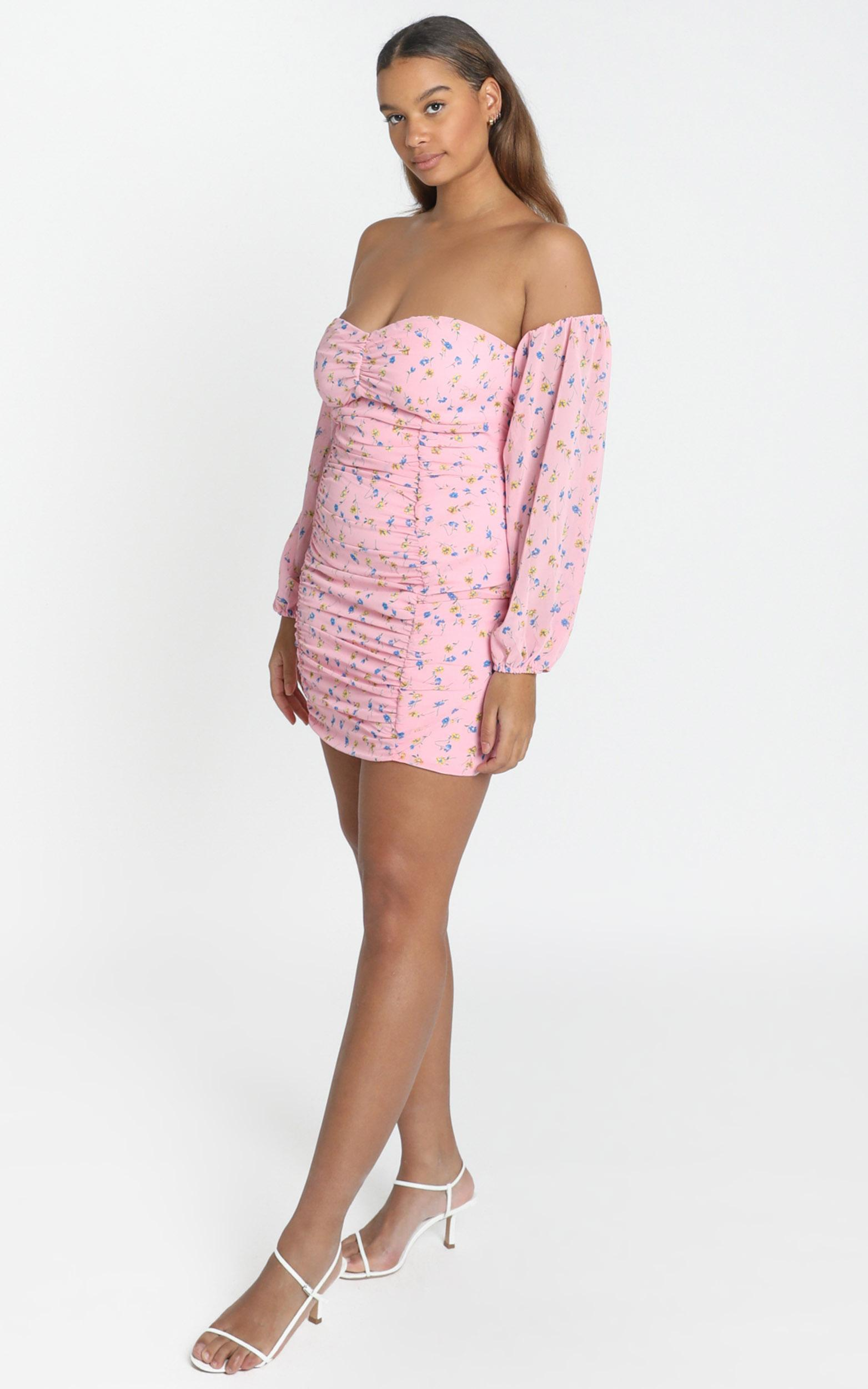 World Of Our Love Dress in pink floral - 4 (XXS), Pink, hi-res image number null