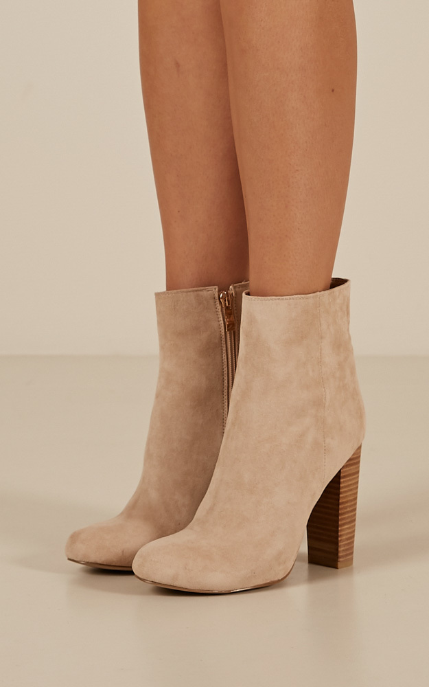 Billini - Lia Boots in stone micro - 10, Beige, hi-res image number null