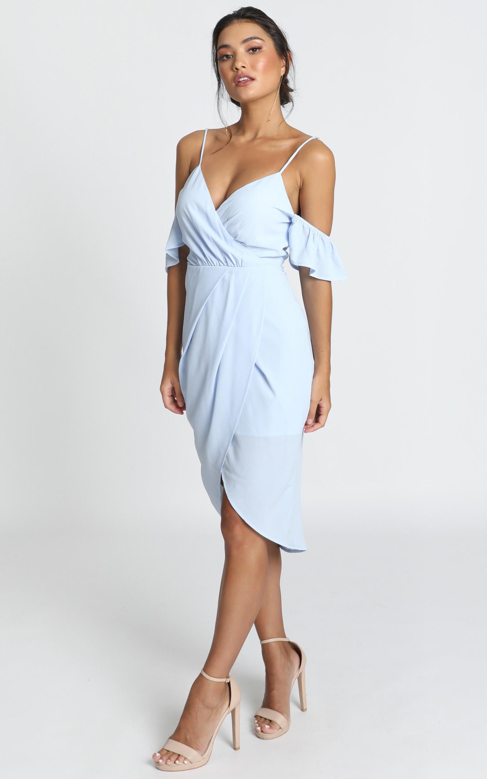 A Fair Go Dress in powder blue - 14 (XL), Blue, hi-res image number null