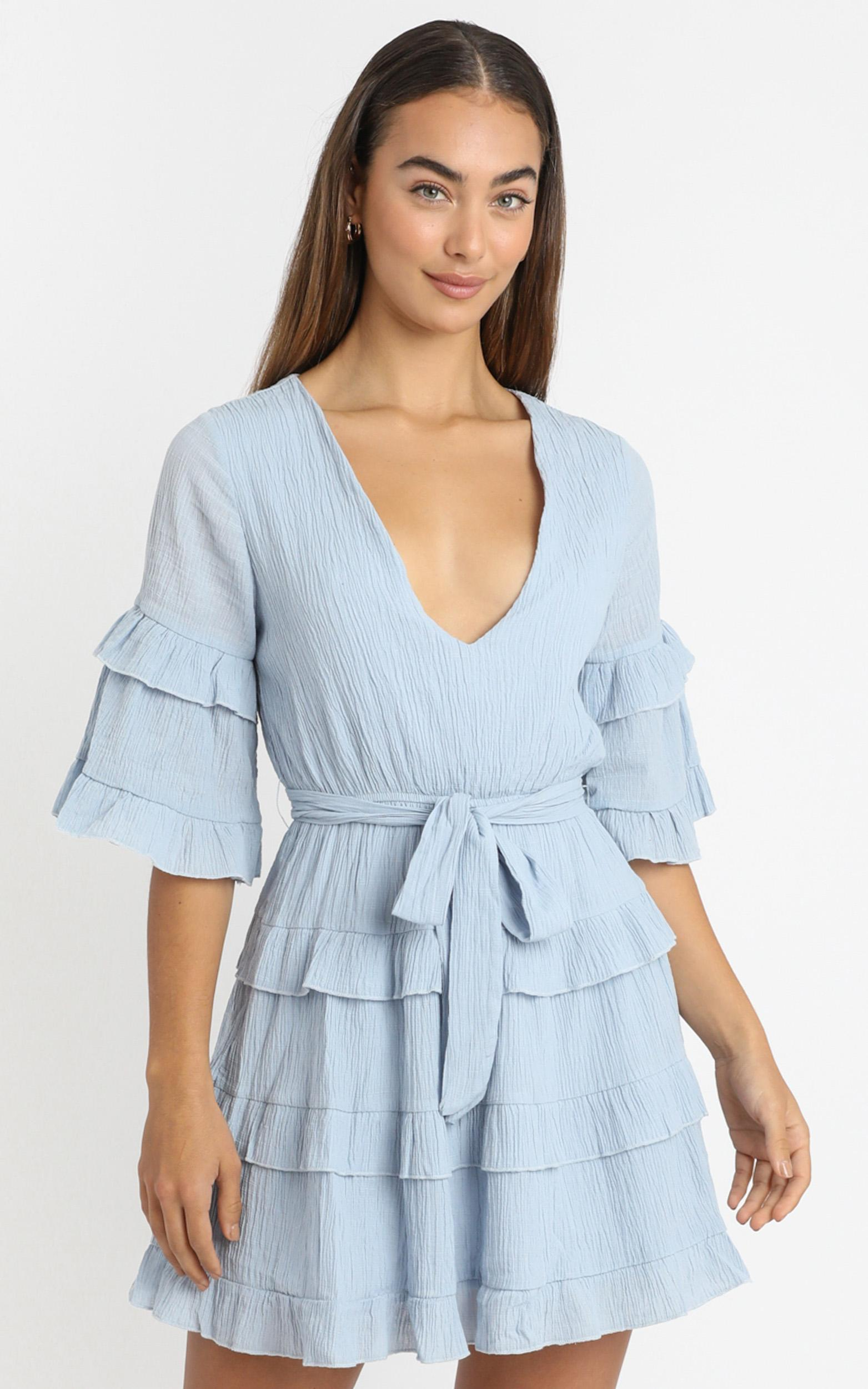 Meet Me In The Sun Dress in blue - 20 (XXXXL), Blue, hi-res image number null