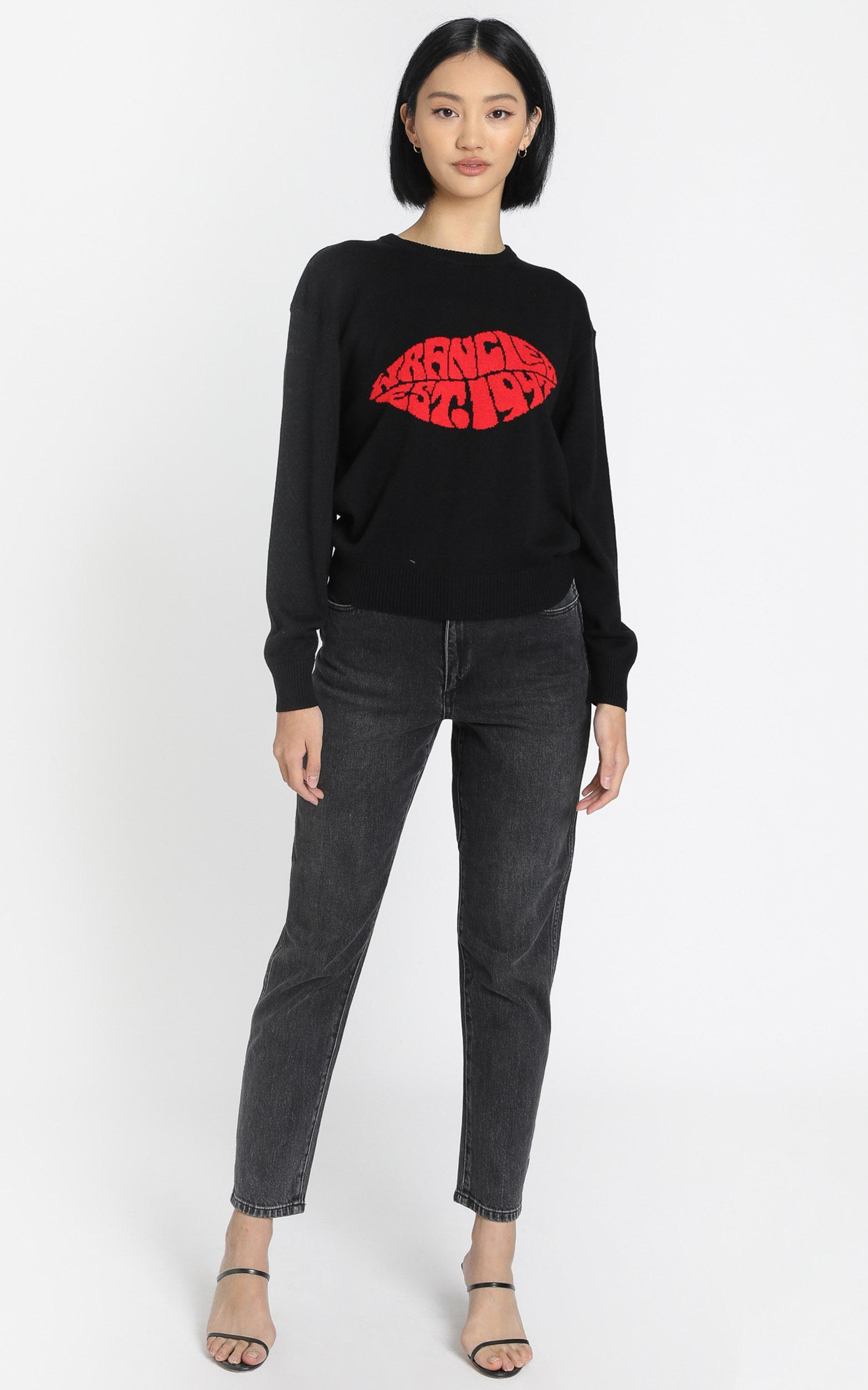 Wrangler - Lips Sweater in Black - 6 (XS), Black, hi-res image number null