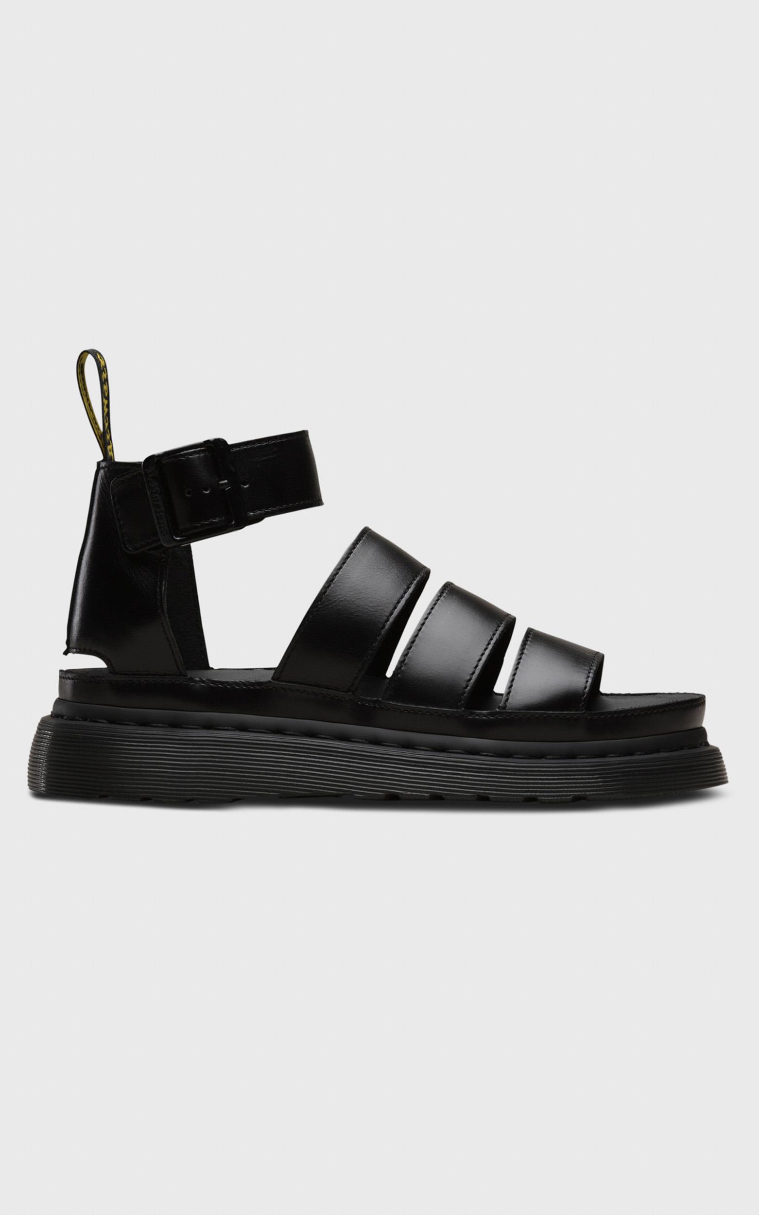Dr. Martens - Clarissa II Chunky 3 Strap Sandal in Black Brando - 5, Black, hi-res image number null