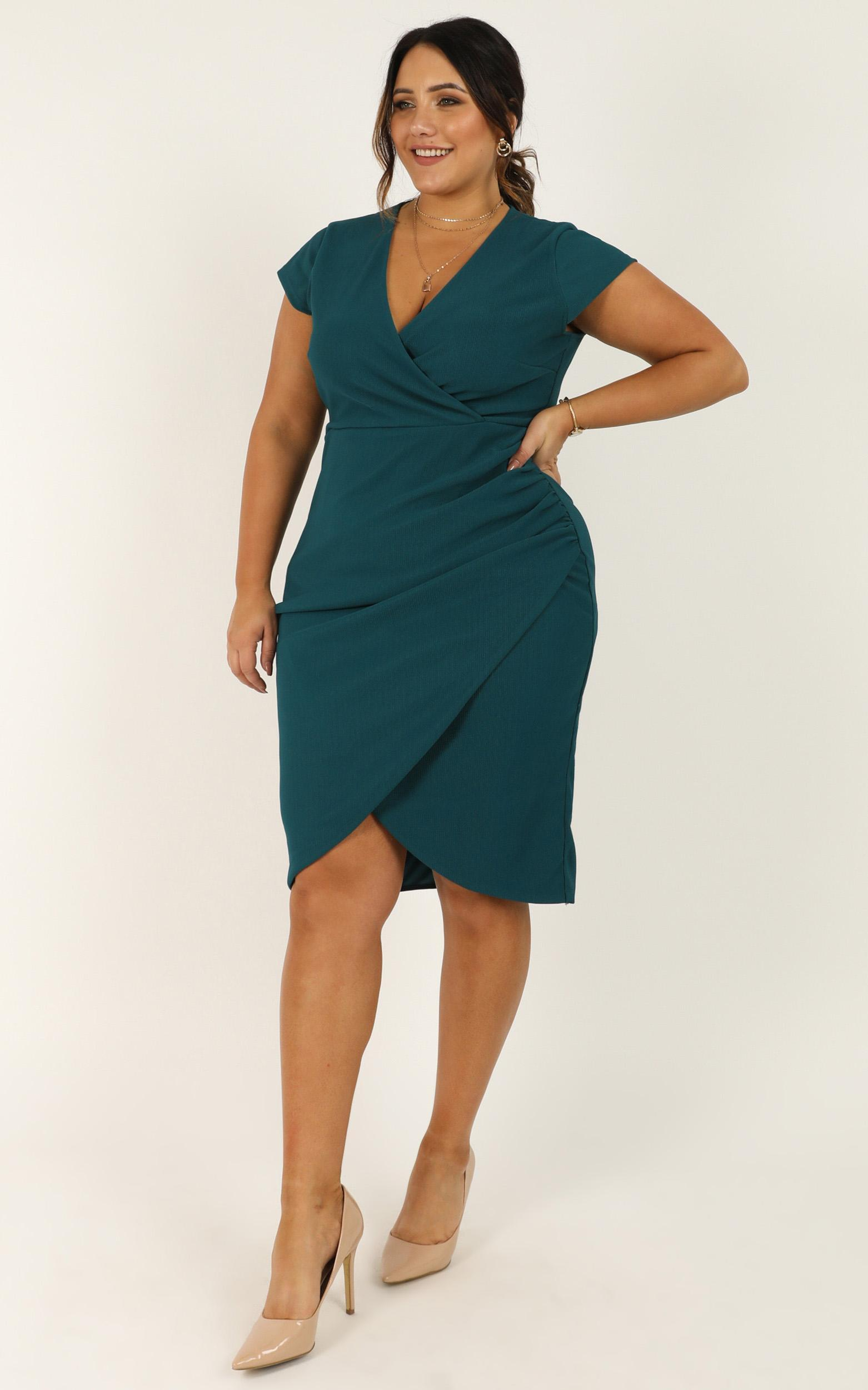 Quick Decider Dress in teal - 20 (XXXXL), Green, hi-res image number null